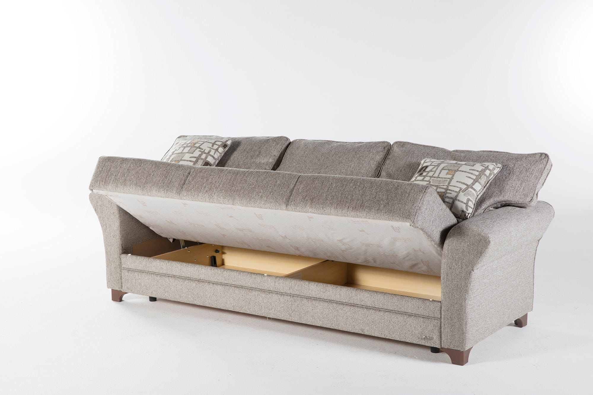Padova Aristo Light Brown Convertible Sofa Bed by Istikbal (Sunset)