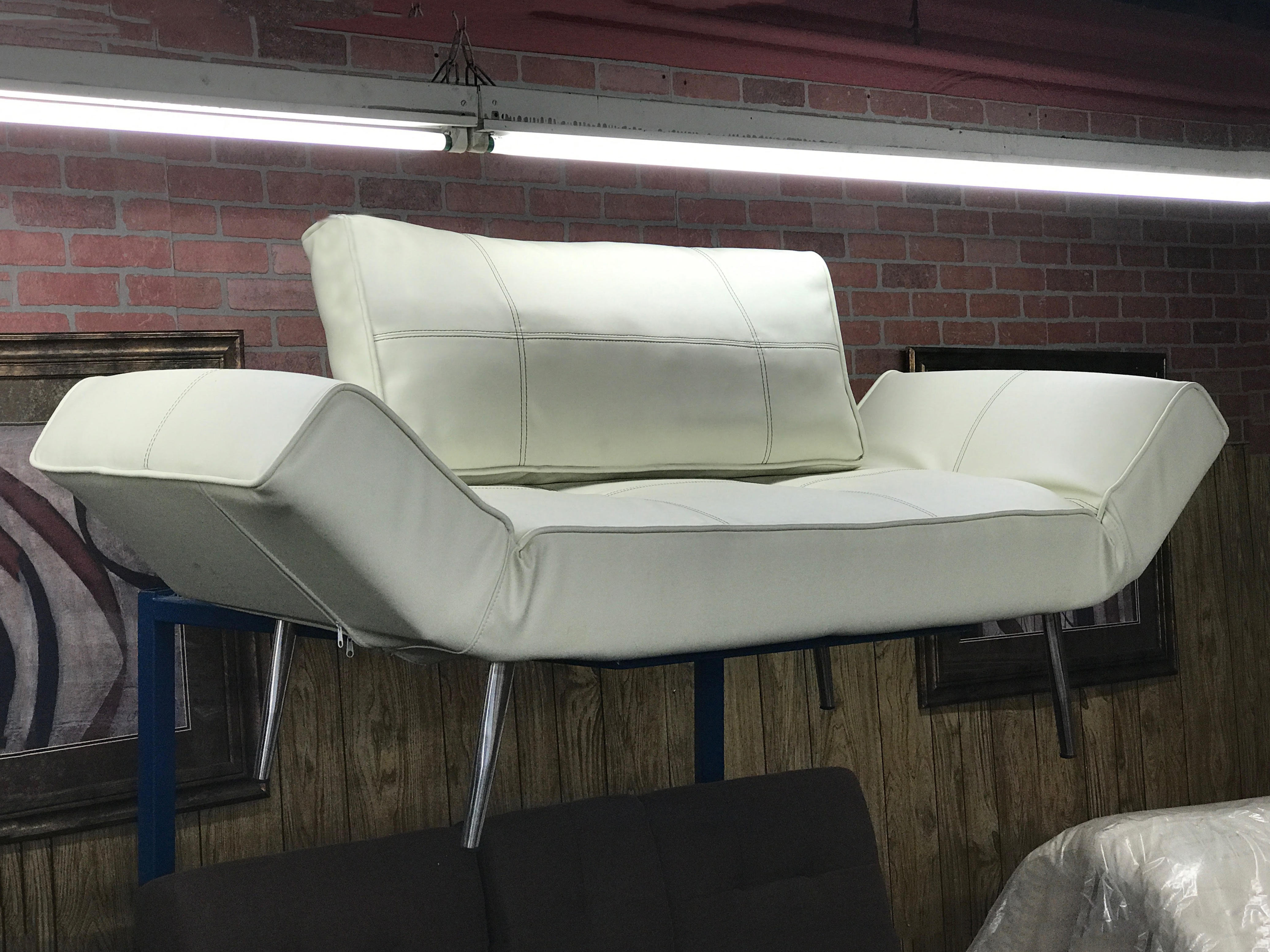 Corona sofa bed off white by prestige furnishings for White divan bed