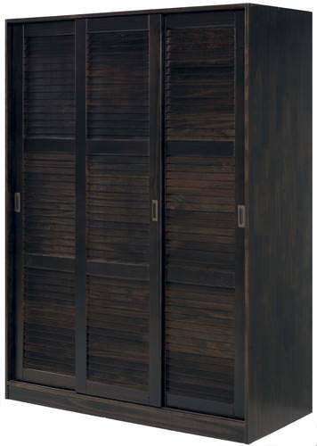 wardrobe 3 sliding doors java w louver doors by palace. Black Bedroom Furniture Sets. Home Design Ideas