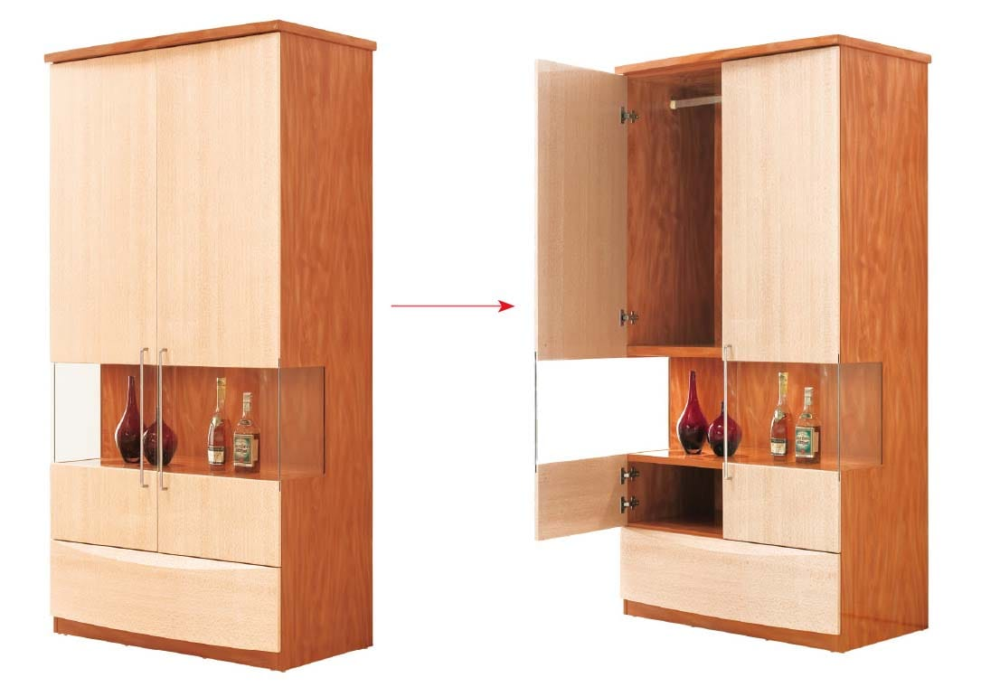 B31 B32 2 Door Wardrobe W Bar By Pantek