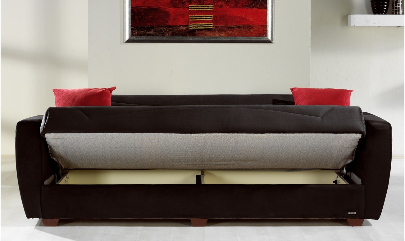 Power Rainbow Black Convertible Sofa Bed By Sunset