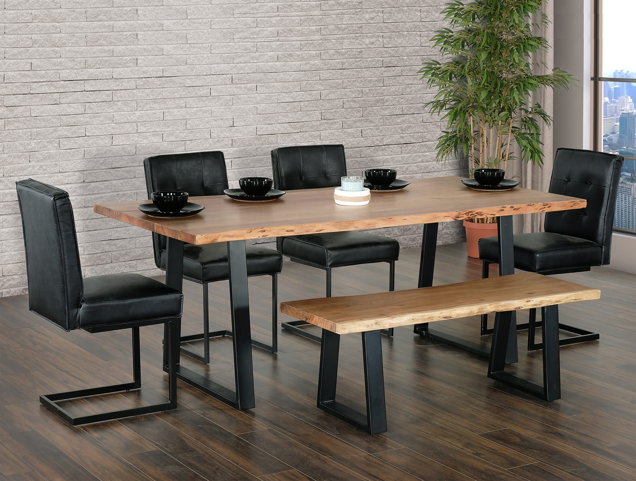 Coastline 8400 Natural Wood Dining Table By Primo