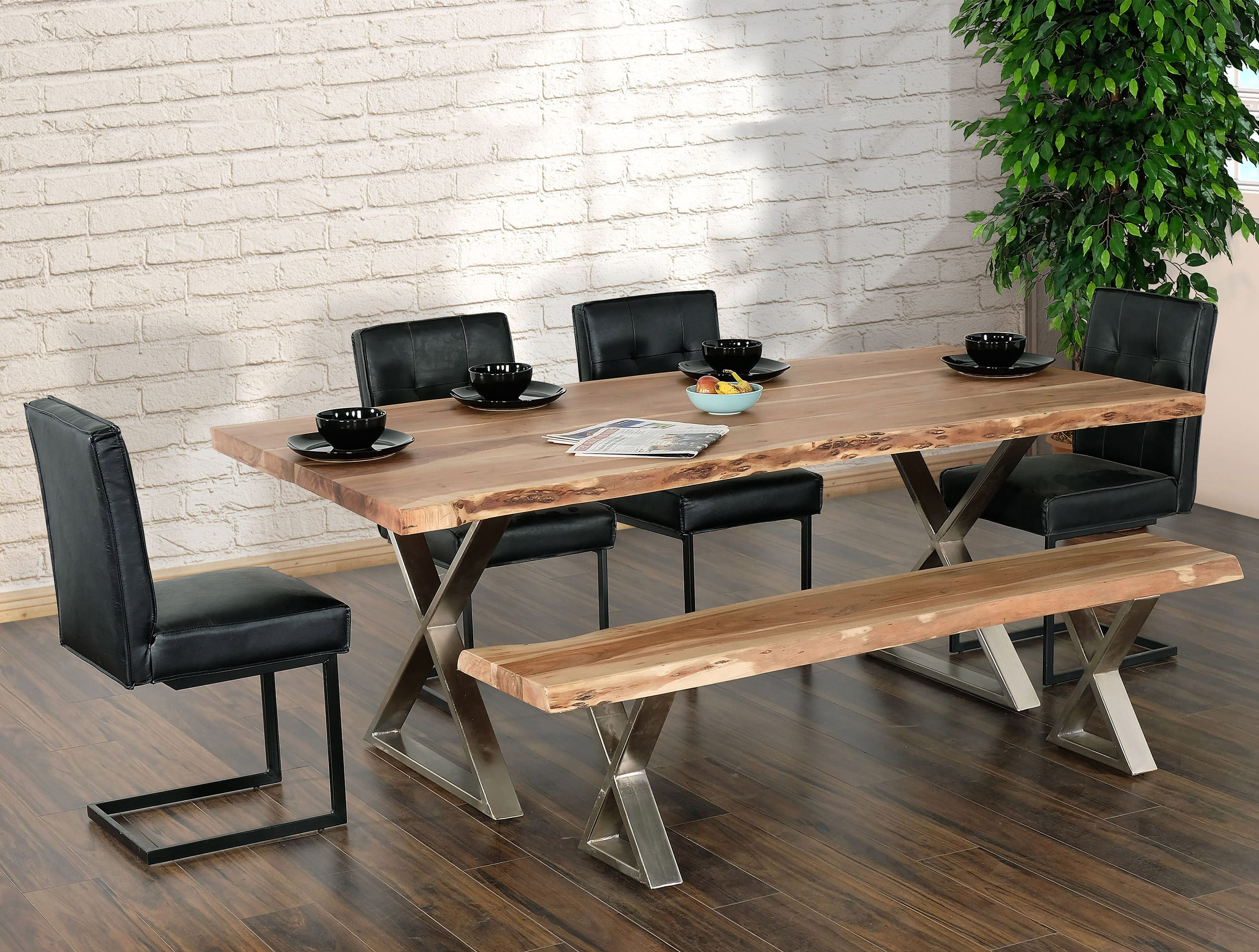 Coastline 9 Natural Wood Dining Table by Primo