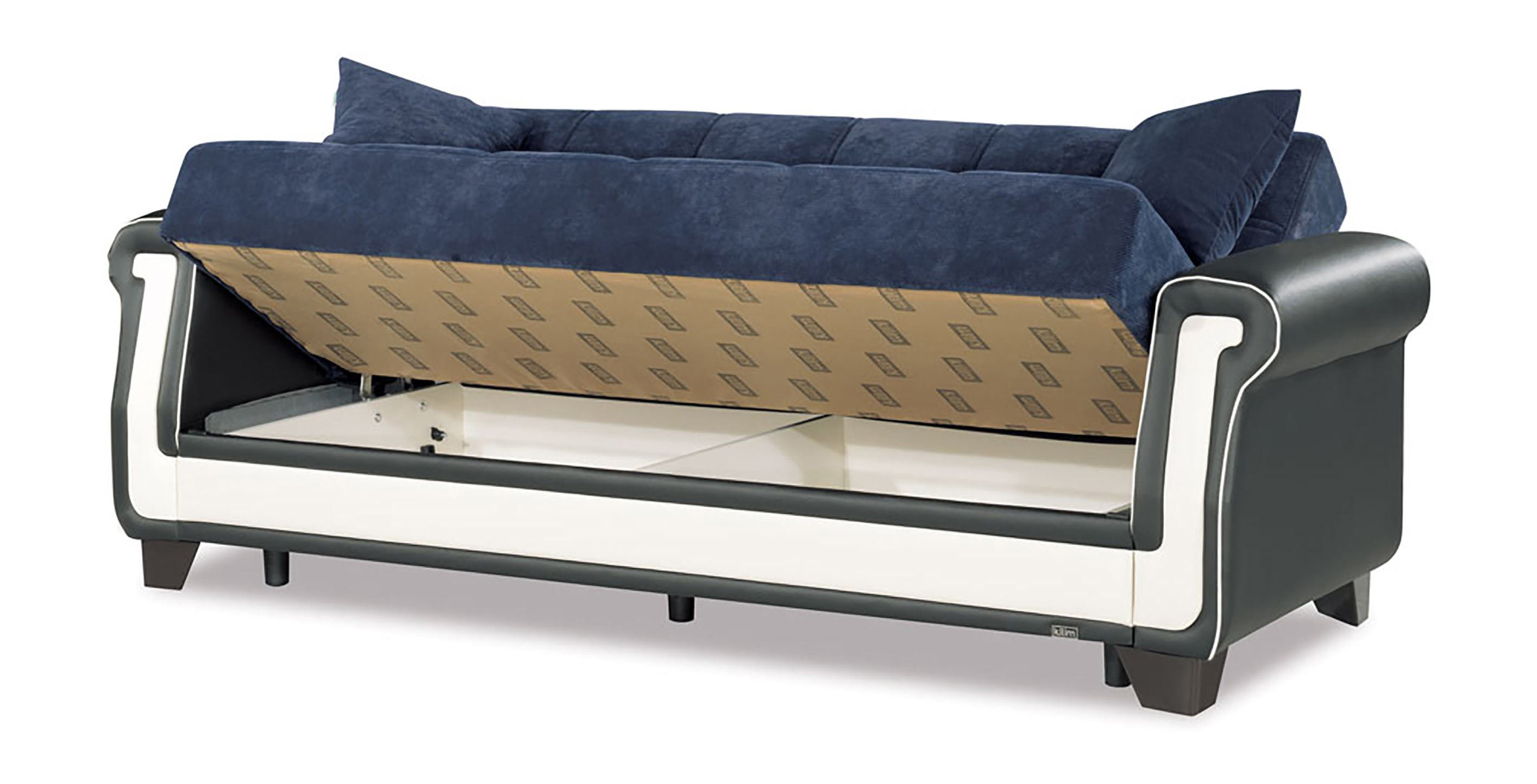 Proline Blue Convertible Sofa Bed by Casamode