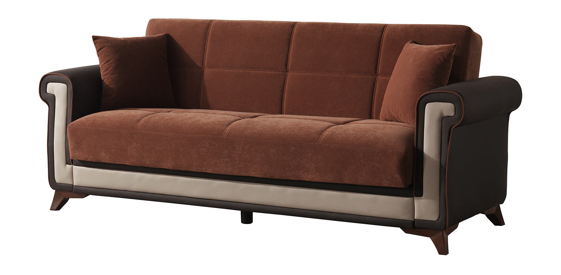 Proline Brown Convertible Sofa Bed By Casamode