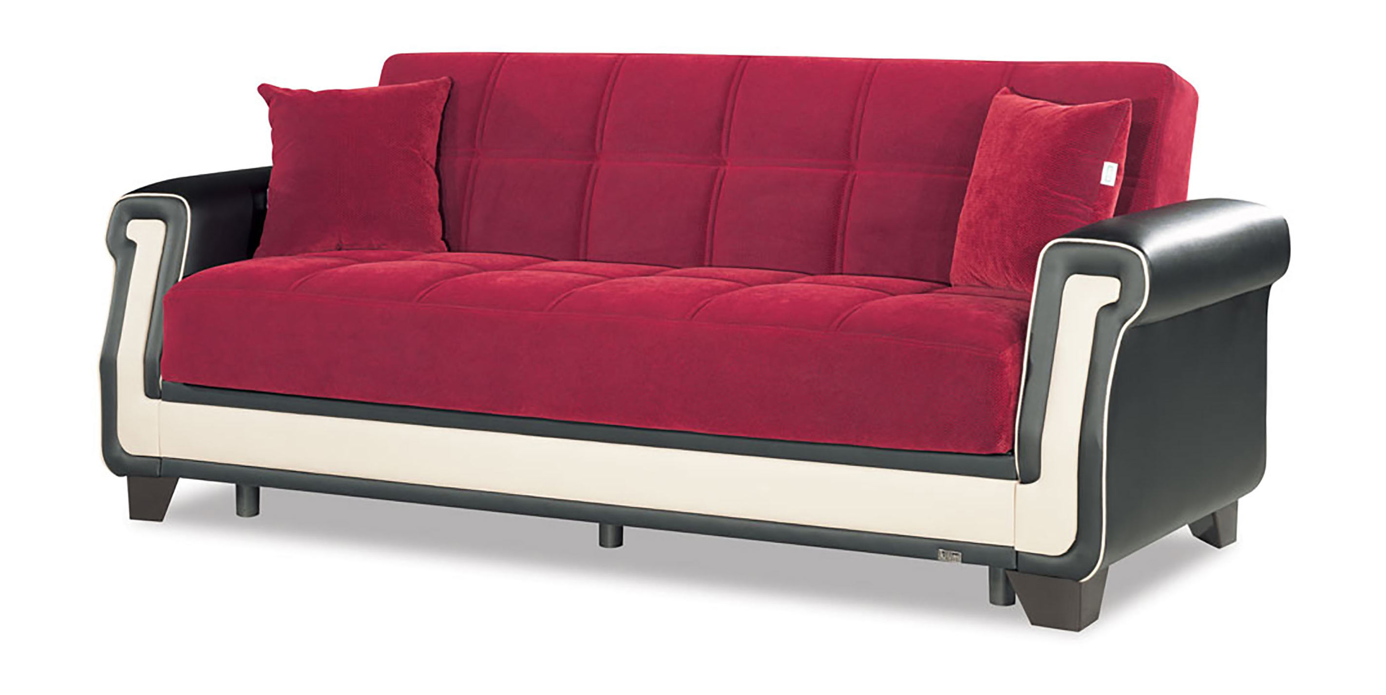 Proline red convertible sofa bed by casamode for Sofas convertibles
