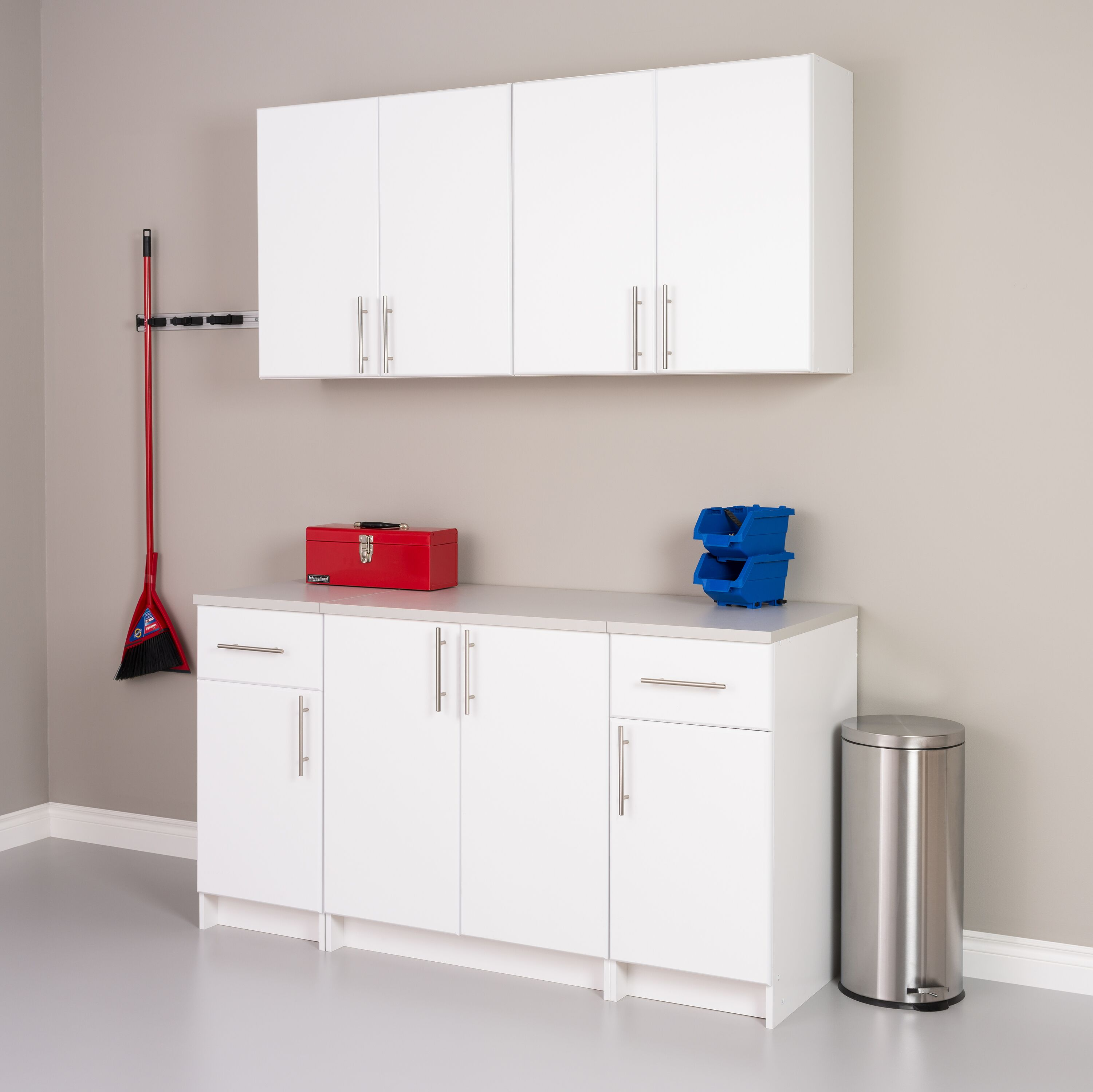 Elite 32 Inch White Tall Wall Cabinet By Prepac