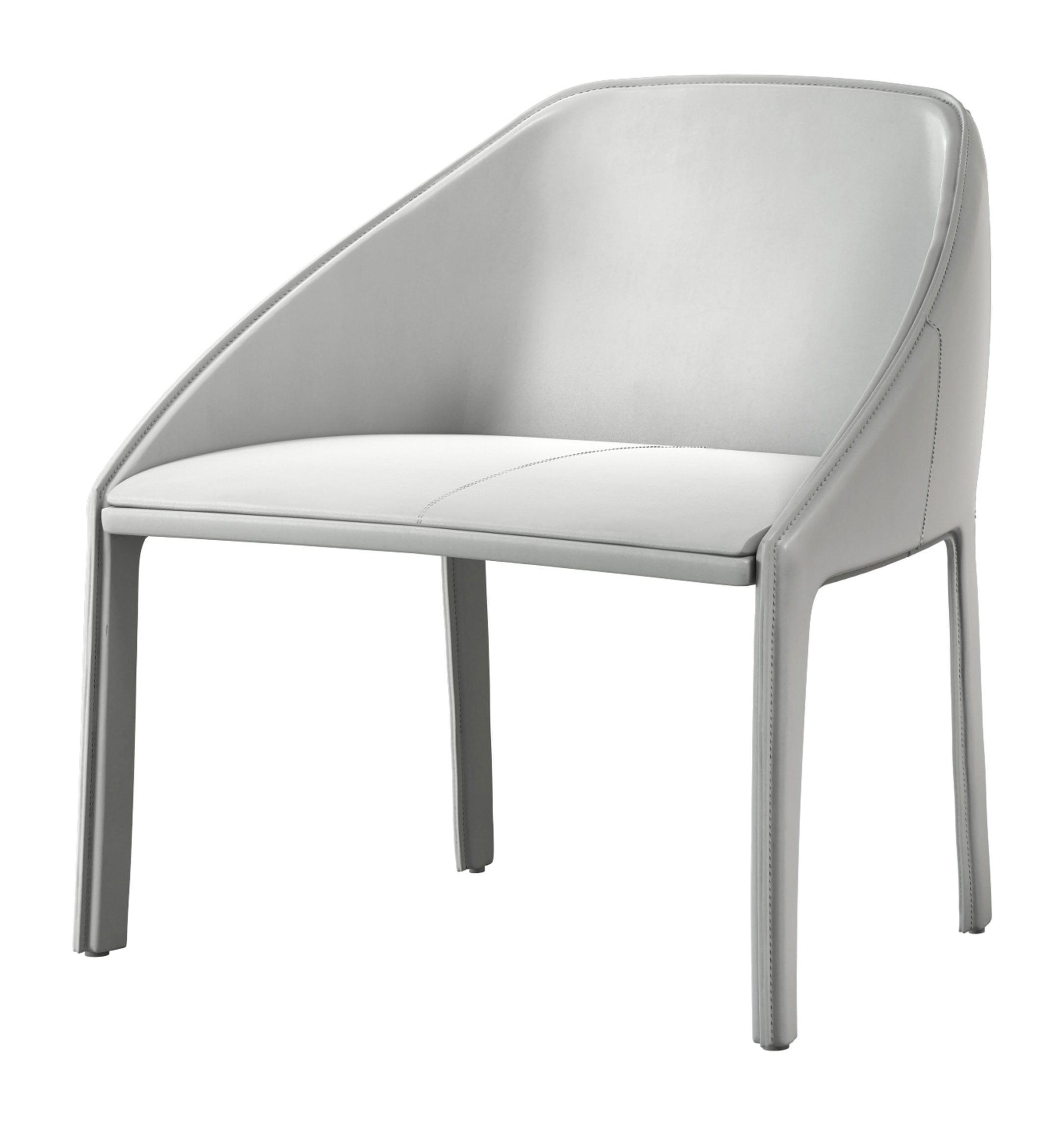 Superb Sidney Lounge Chair Bright White By Modloft Machost Co Dining Chair Design Ideas Machostcouk