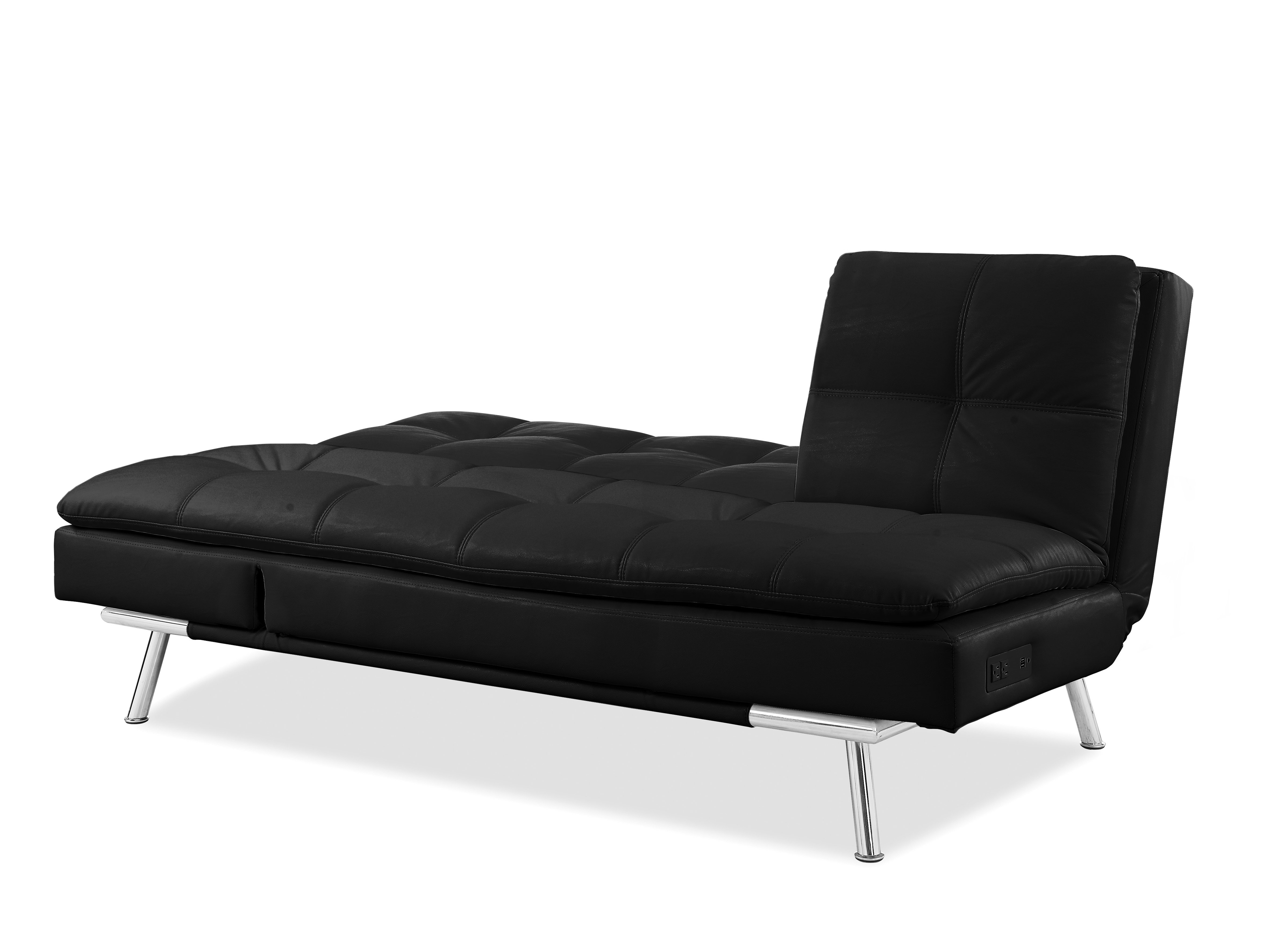 Palermo Convertible Sofa Black by Serta Lifestyle