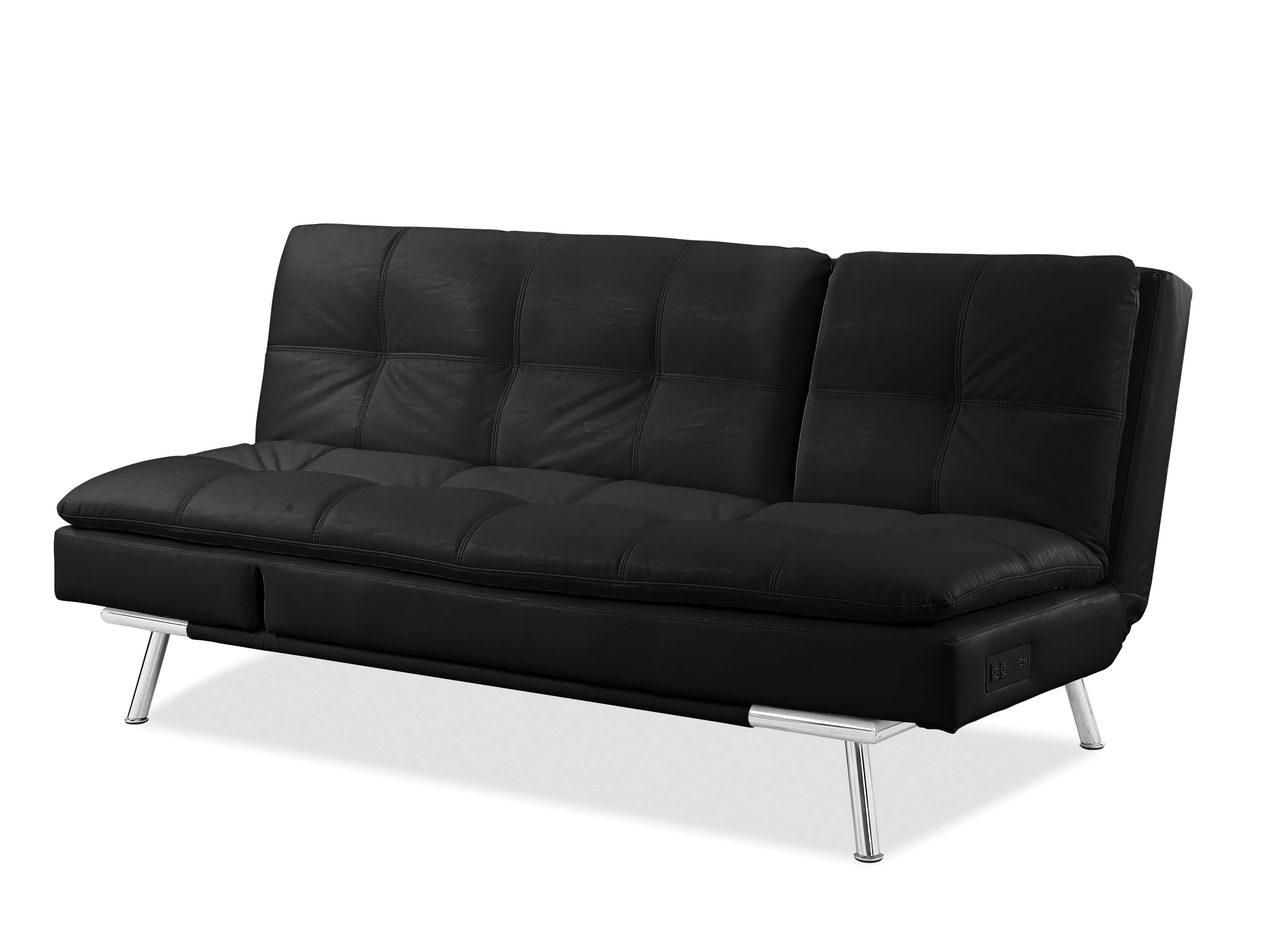 Palermo Convertible Sofa Black by Serta Lifestyle
