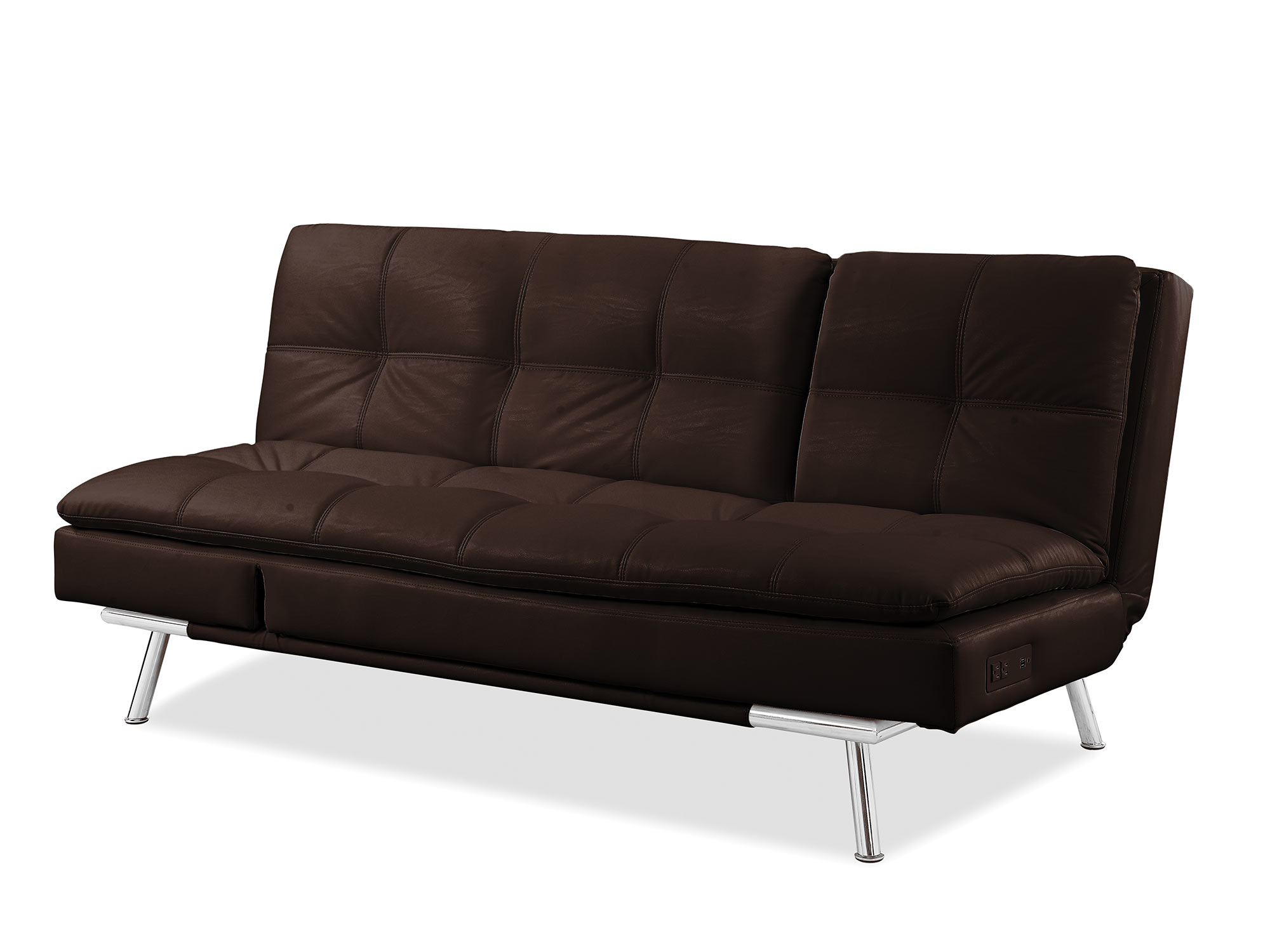 Palermo convertible sofa java by serta lifestyle for Sofas convertibles