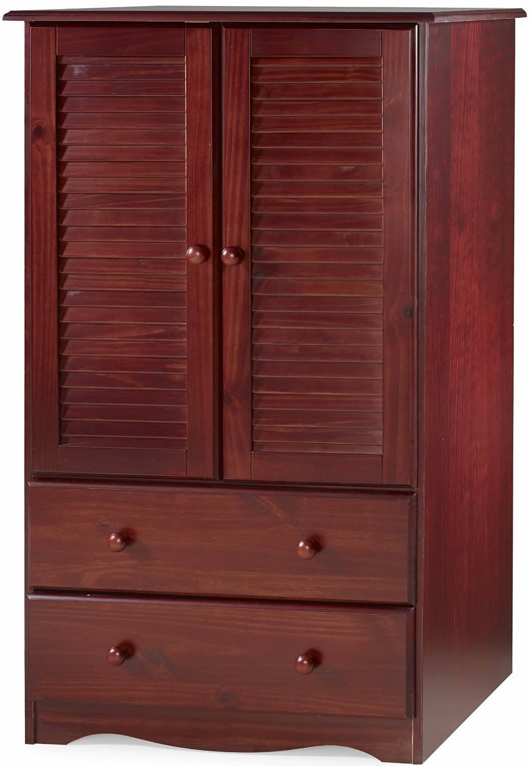 petit armoire mahogany by palace imports. Black Bedroom Furniture Sets. Home Design Ideas