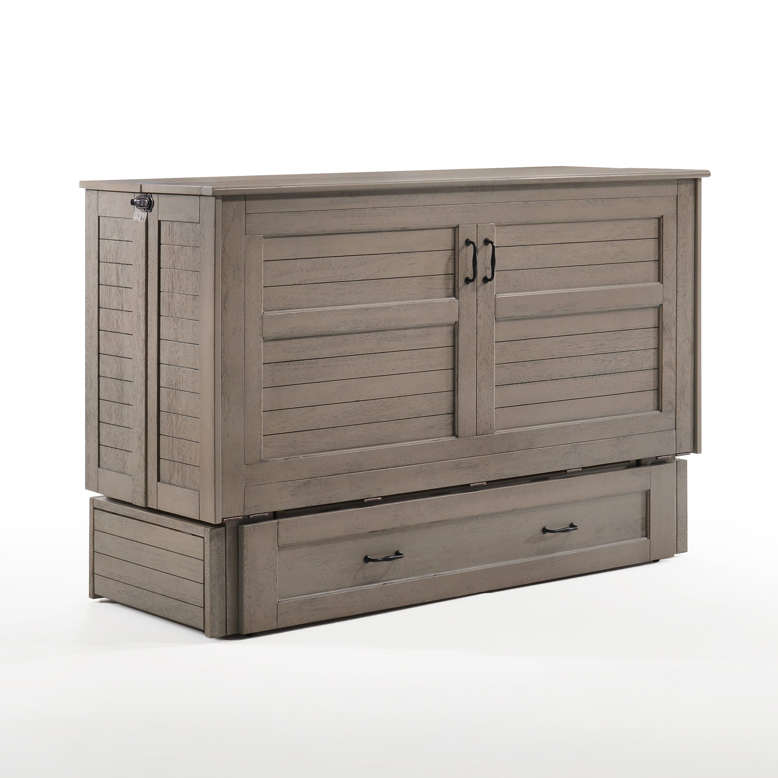 Poppy Brushed Driftwood Queen Murphy Cabinet Bed By Night Day Furniture