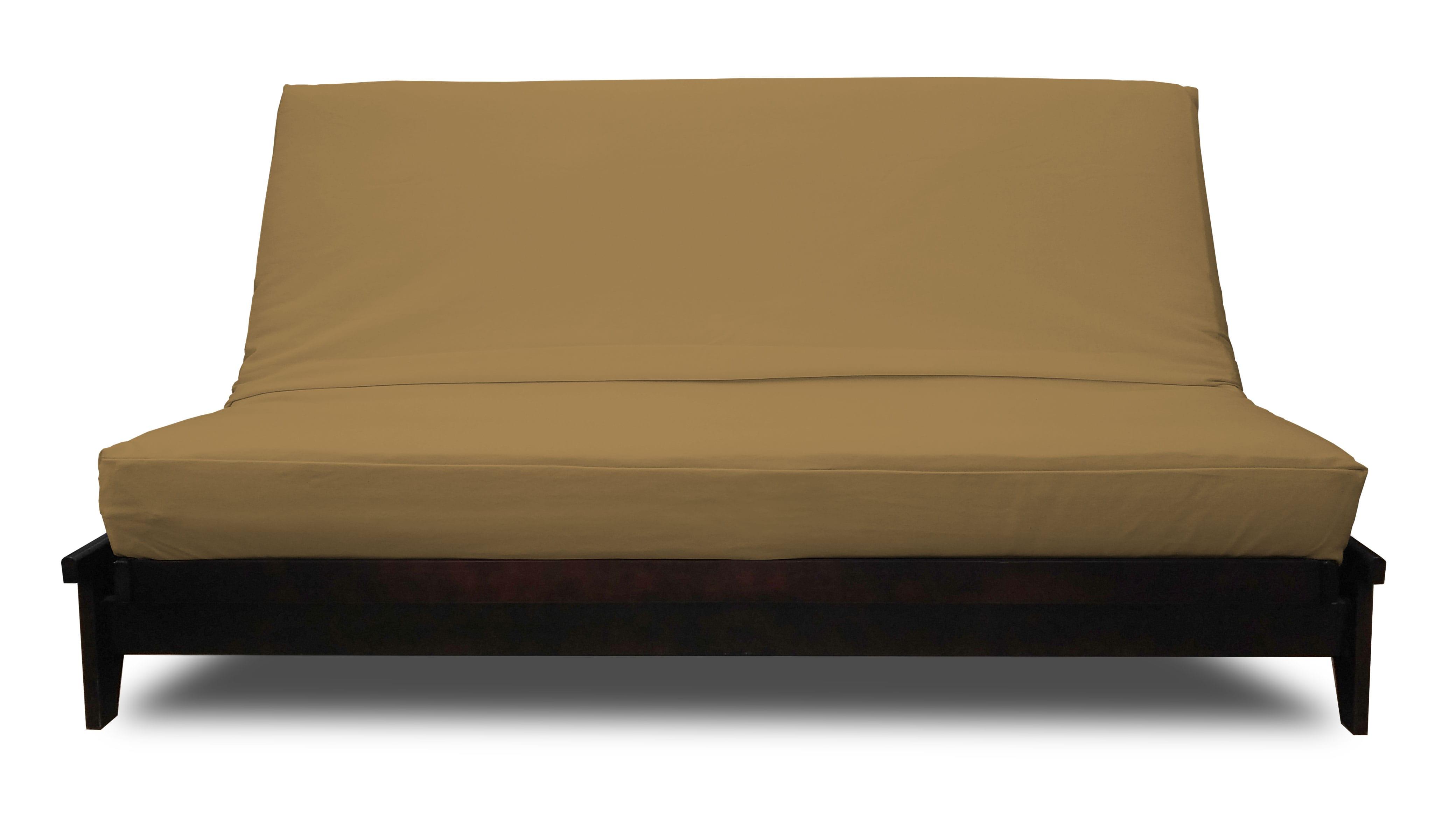 Premium Solid Khaki Futon Cover