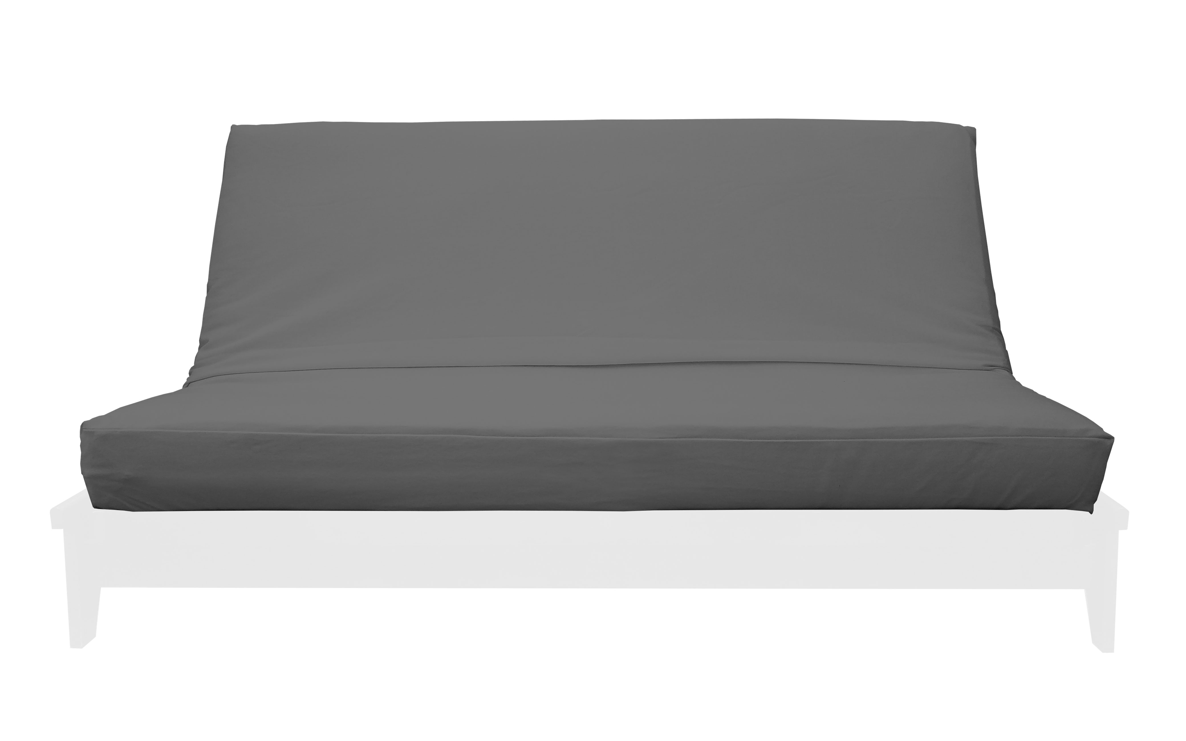 Premium Solid Light Gray Futon Cover By Prestige