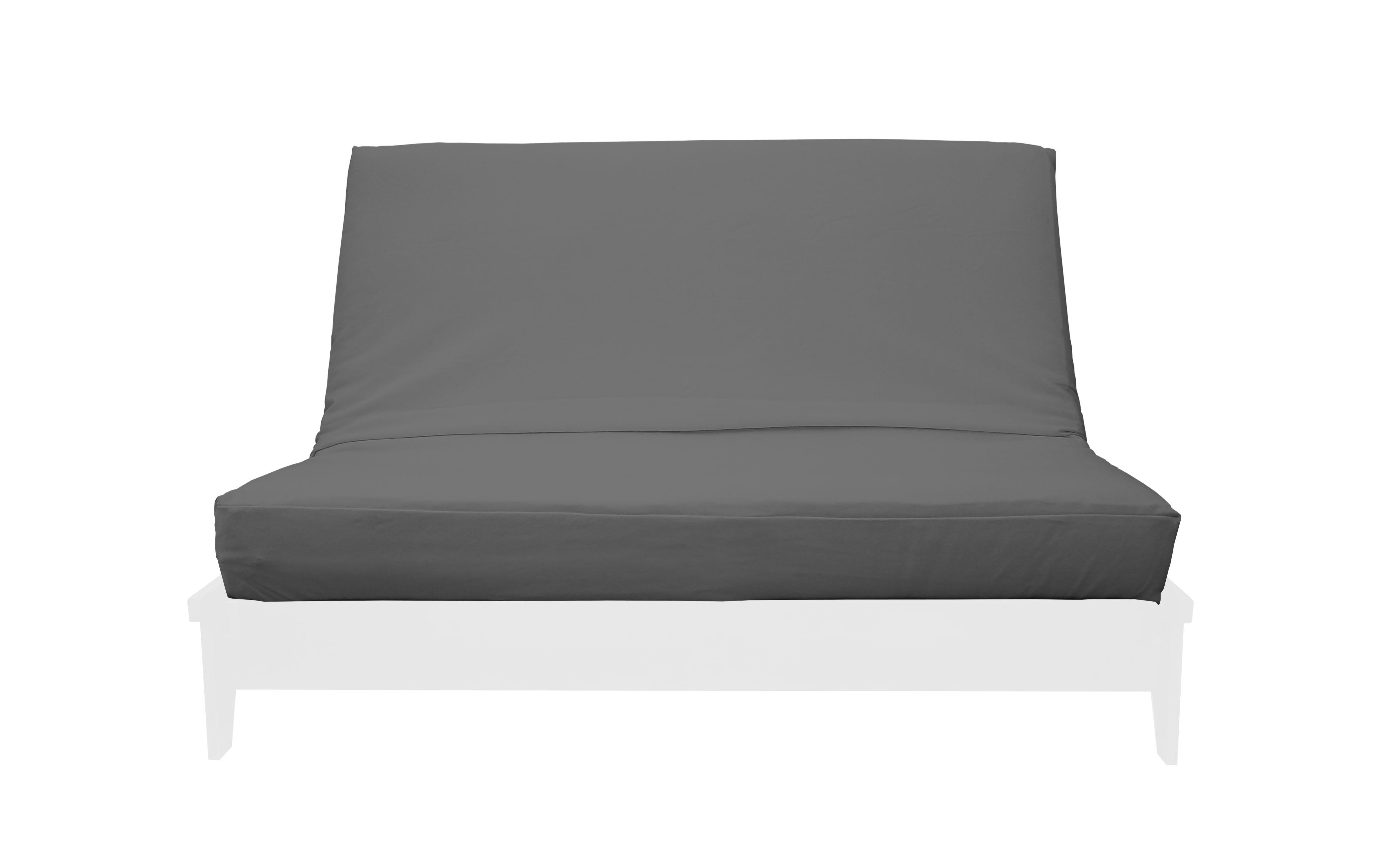 Premium Solid Gray Futon Cover By Prestige