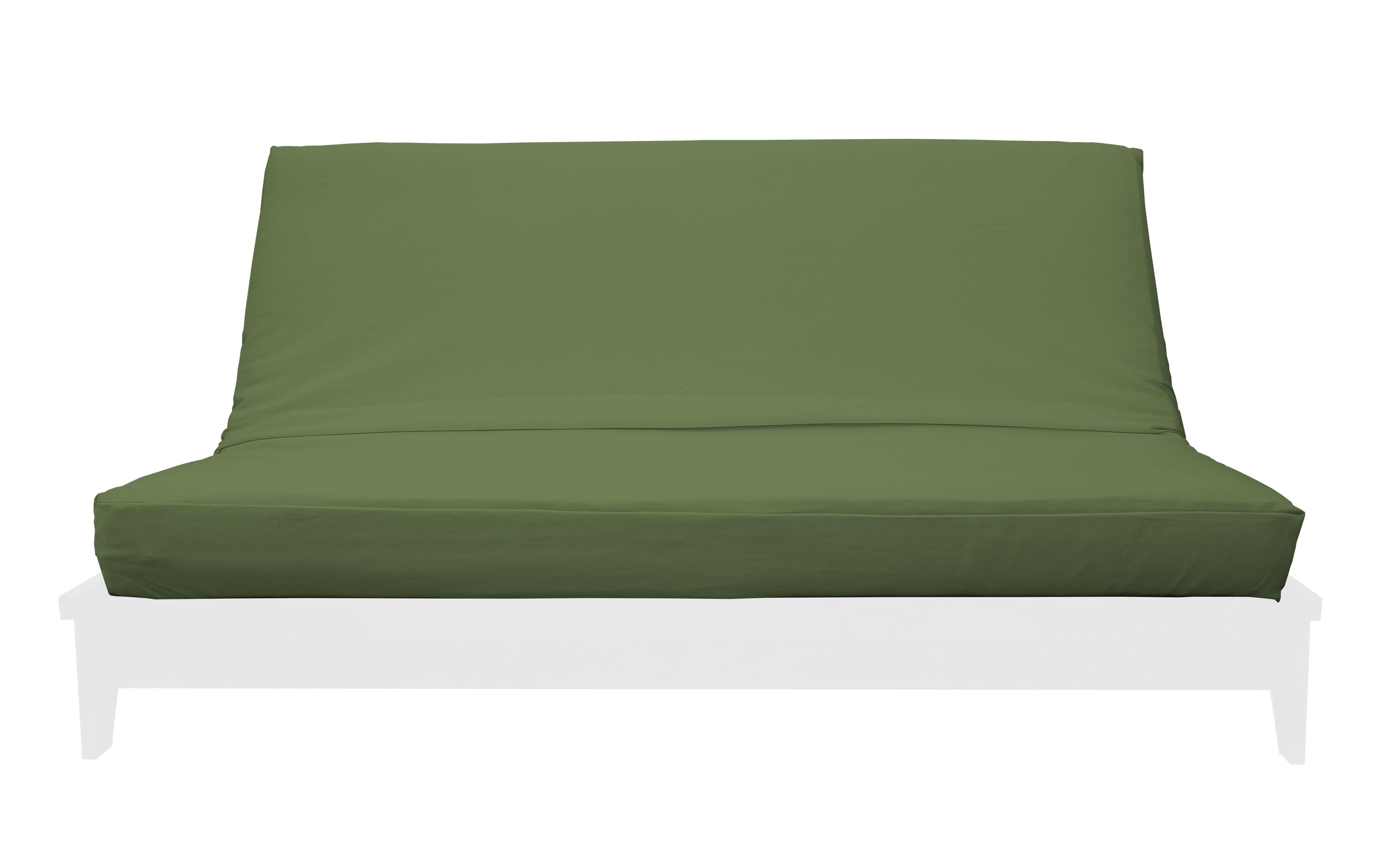 Premium Solid Olive Green Futon Cover