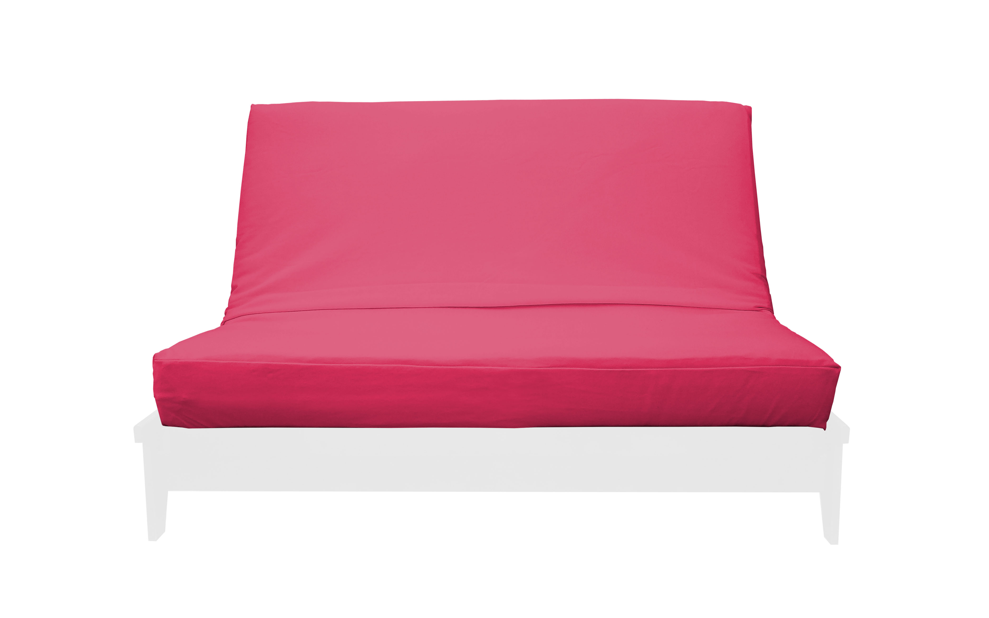 Premium Solid Pink Futon Cover By Prestige
