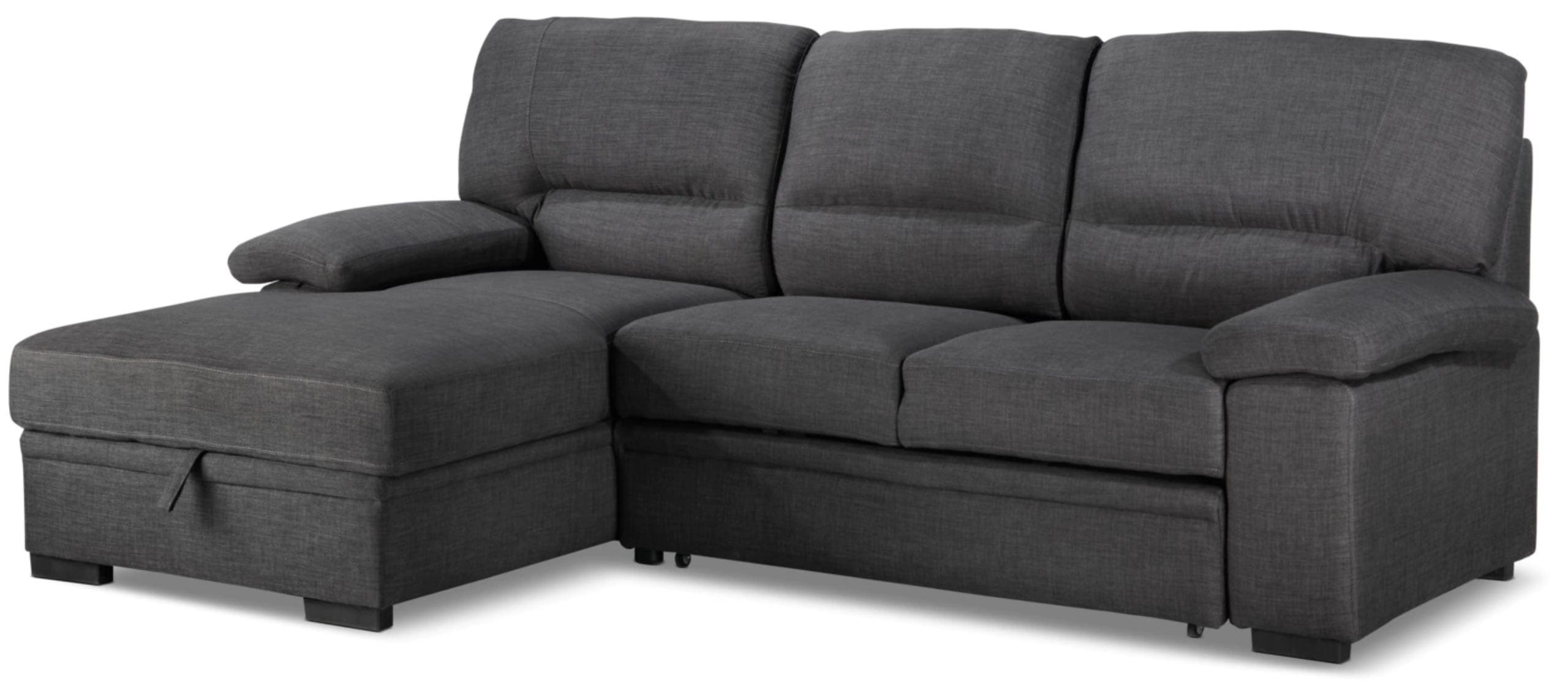 Magnificent Tessaro Sleeper Sectional Dark Gray By Primo Inzonedesignstudio Interior Chair Design Inzonedesignstudiocom