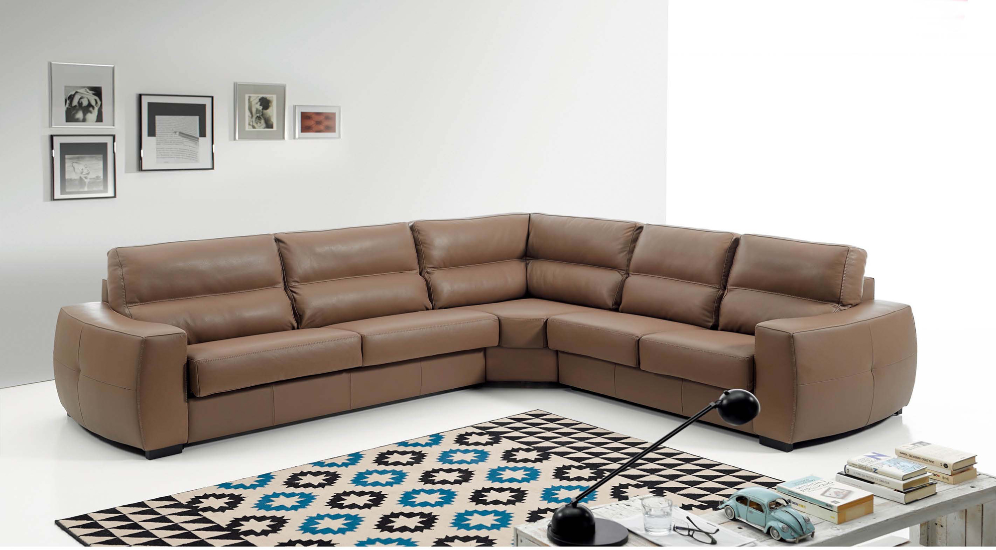 Rafael leather sectional with sleeper by esf for Sectional sofa names