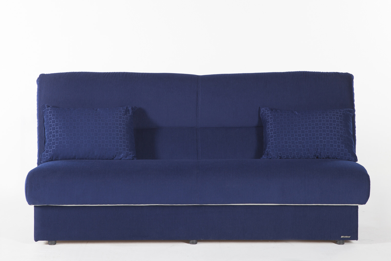 sleeper bonita sleepers products springs sofa textured blue sofas transitional
