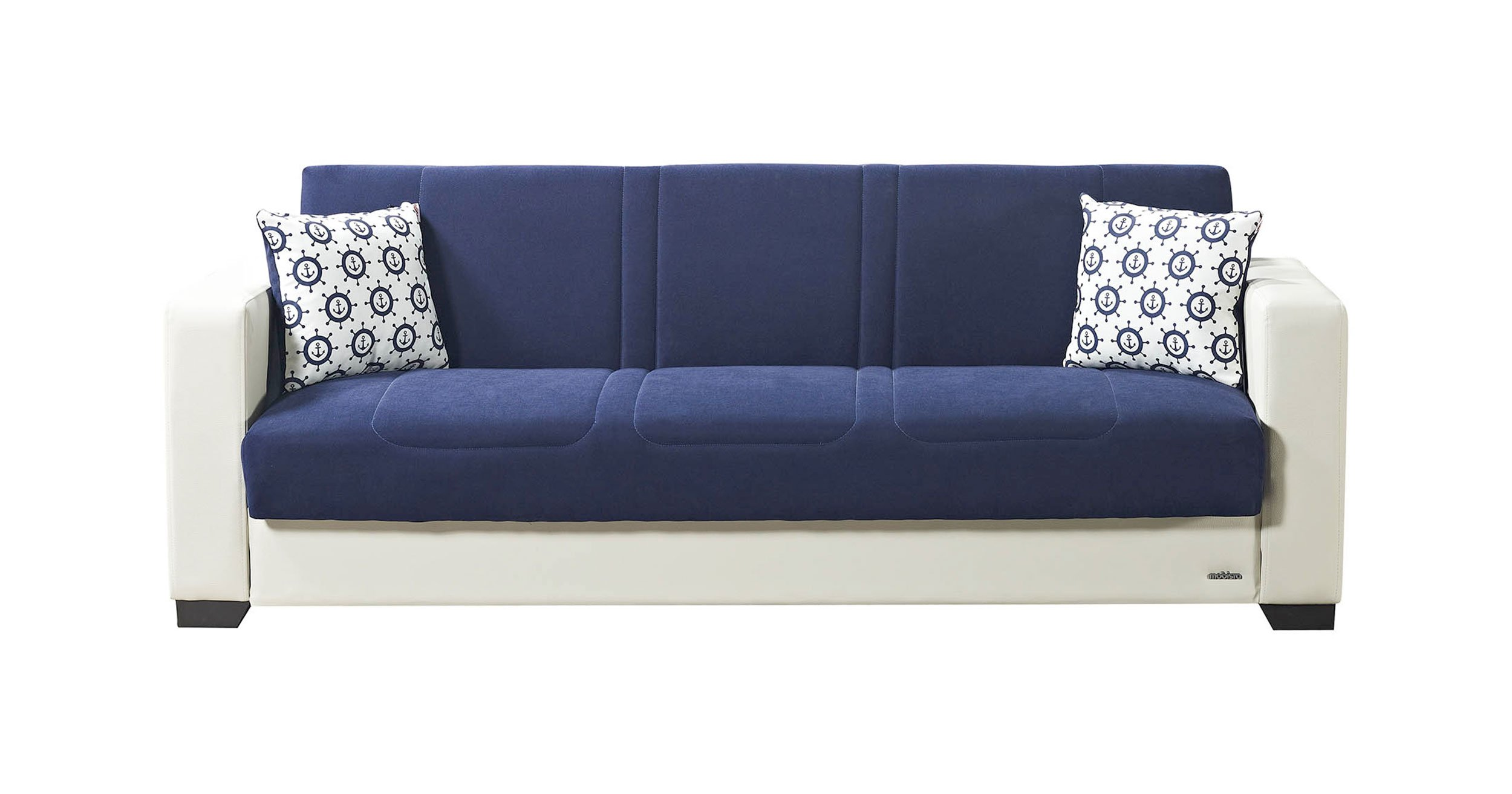 Relaxon Carisma Navy Blue Sofa Bed By Mobista