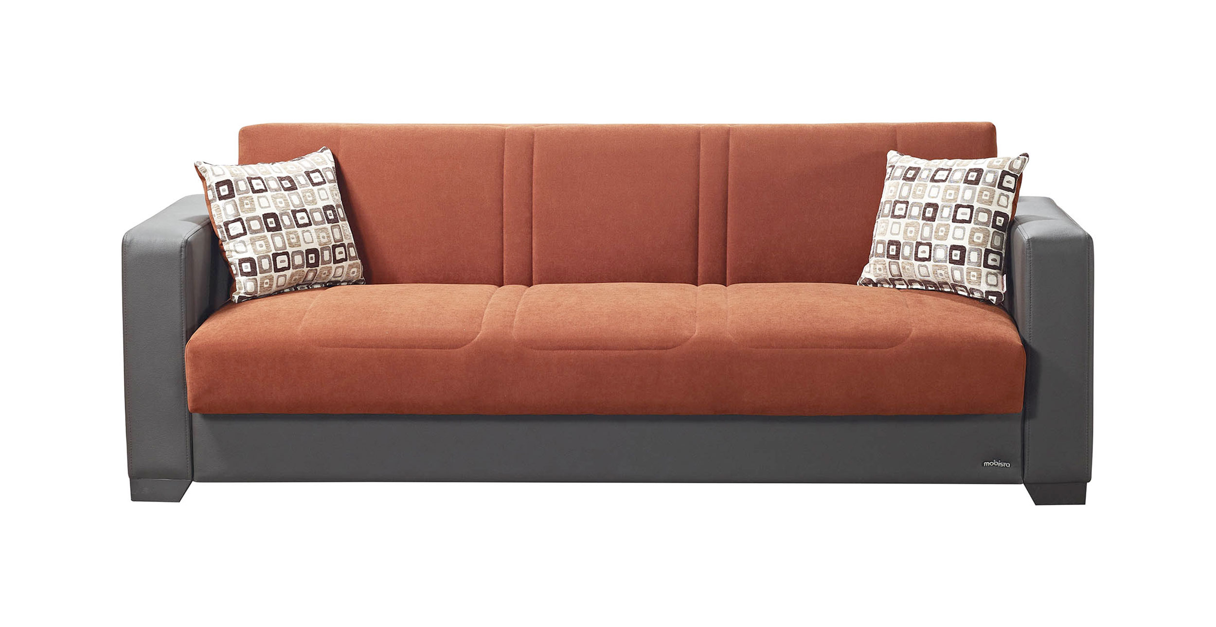 Relaxon Carisma Terra Cotta Sofa Bed By Mobista