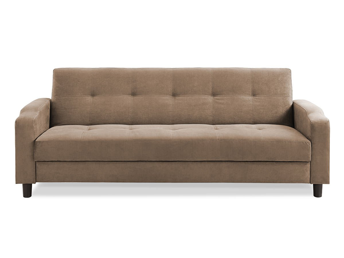 Reno Convertible Sofa Light Brown By Serta Lifestyle