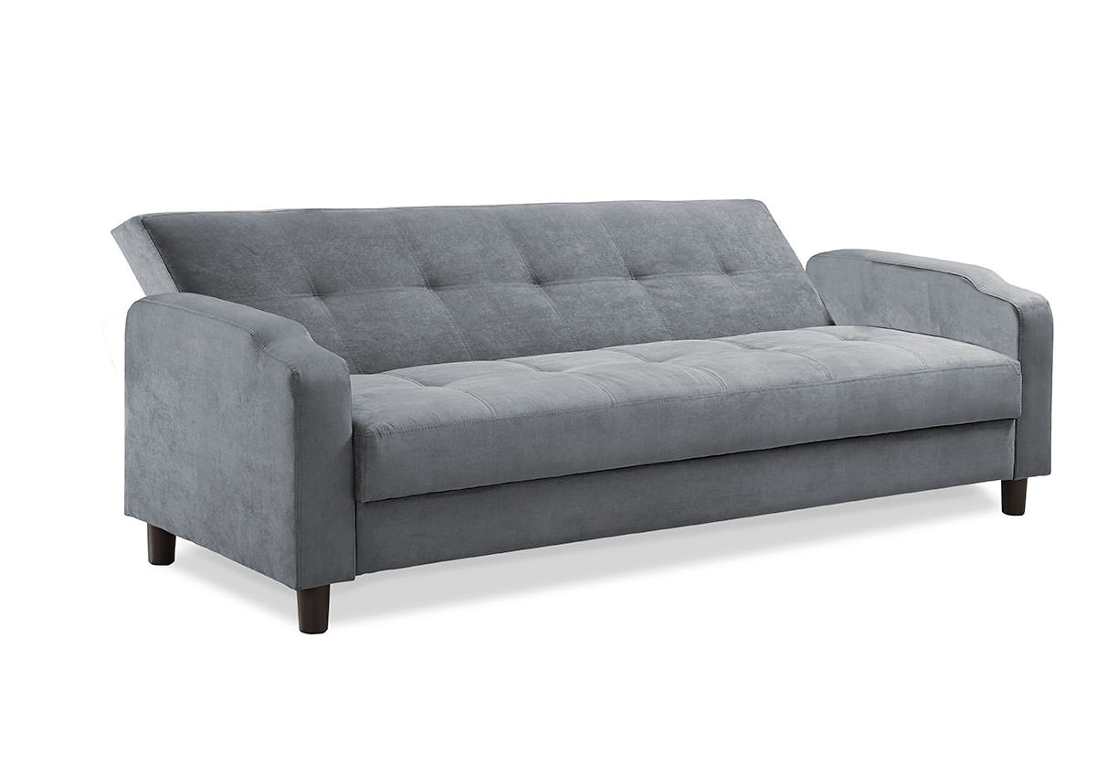 Reno Convertible Sofa Dark Grey By Serta Lifestyle