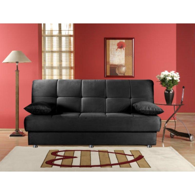 Reno Rainbow Black Convertible Sofa Bed By Sunset