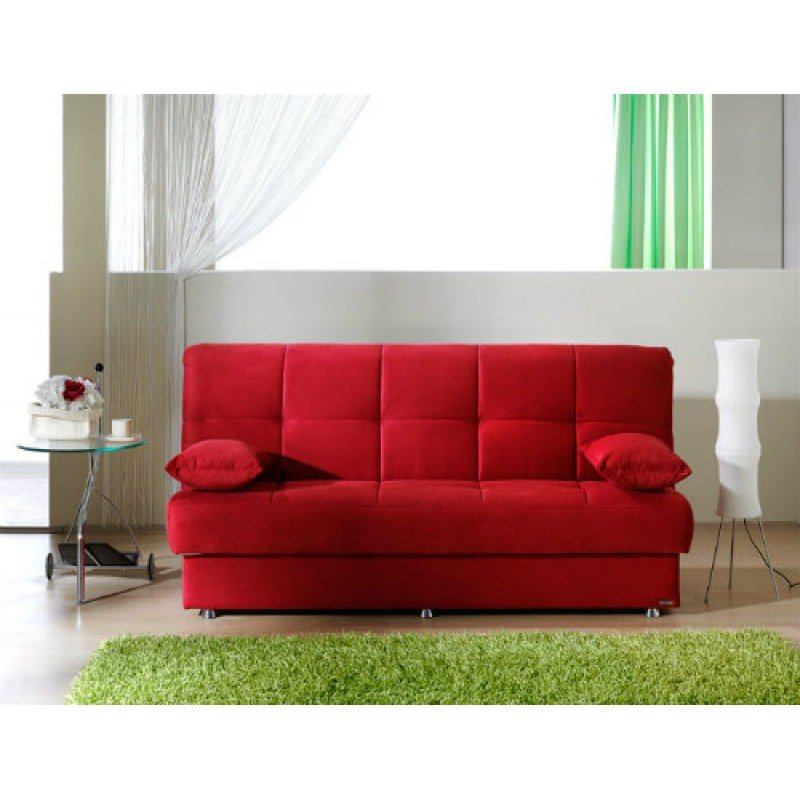 Reno Rainbow Red Convertible Sofa Bed By Sunset