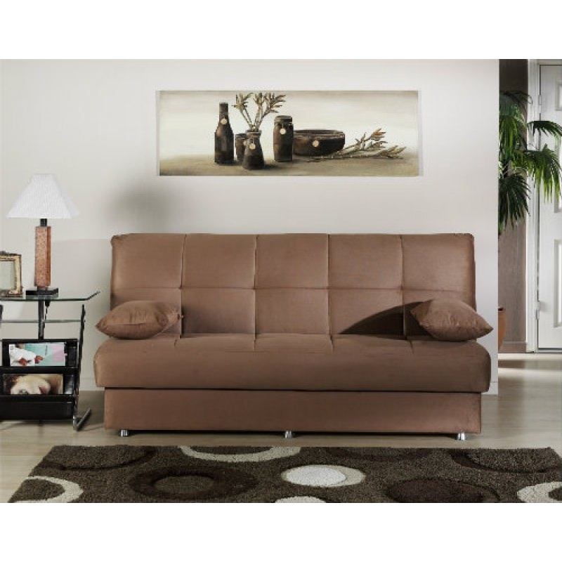 Reno Rainbow Brown Convertible Sofa Bed By Sunset