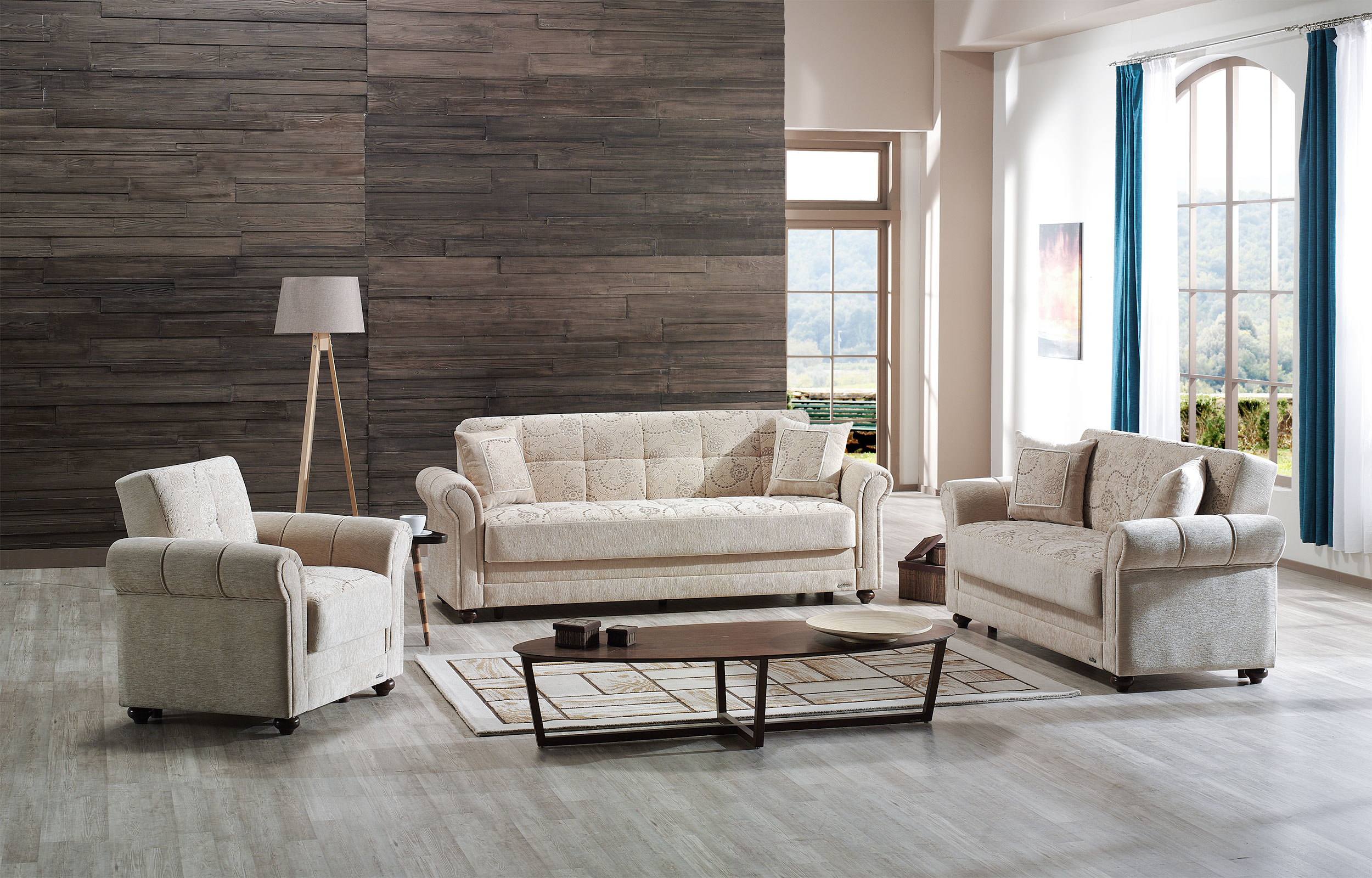 Regina Home Beige Sofa Bed by Mobista