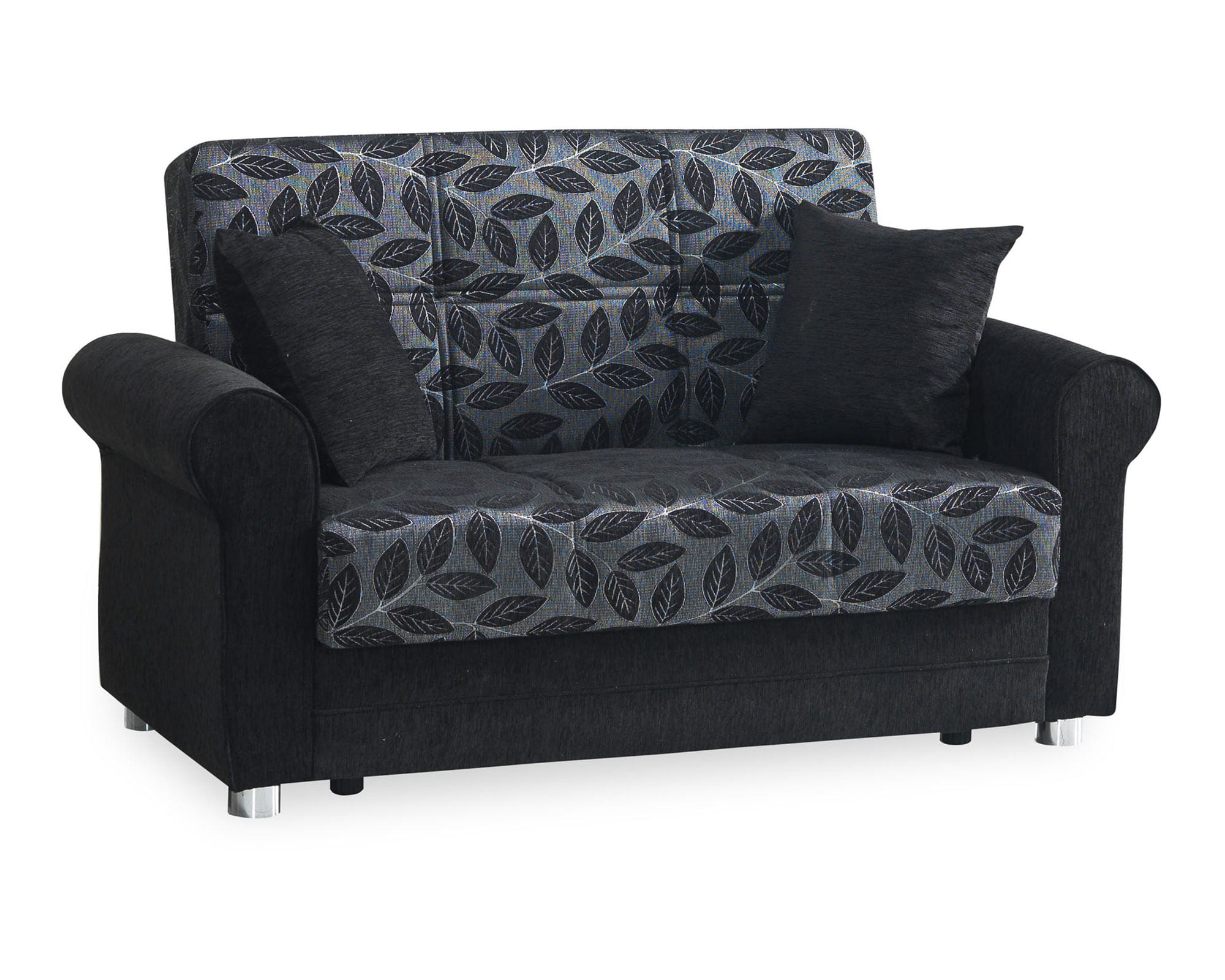 Rio Black Convertible Loveseat by Casamode