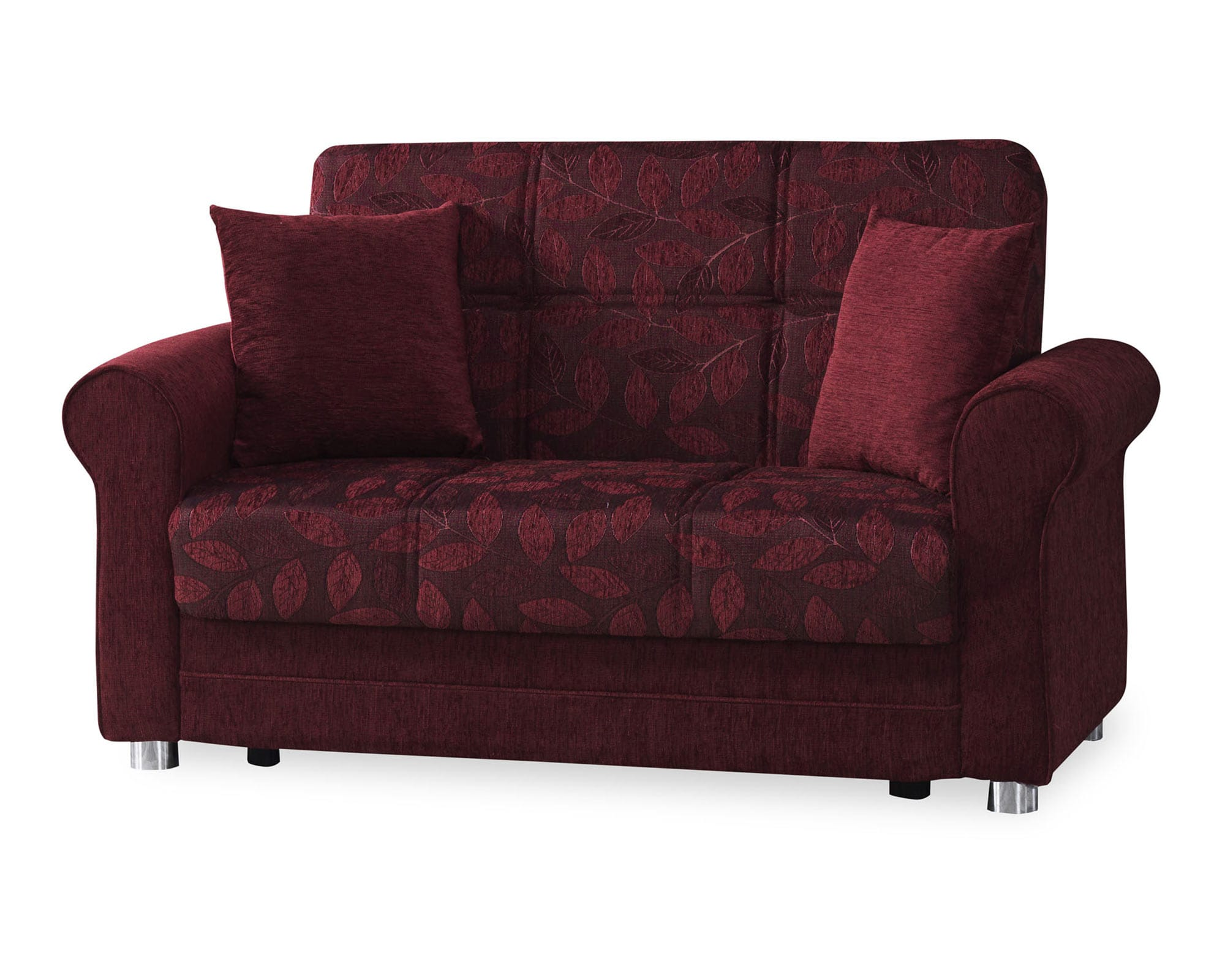 Rio Burgundy Convertible Loveseat by Casamode