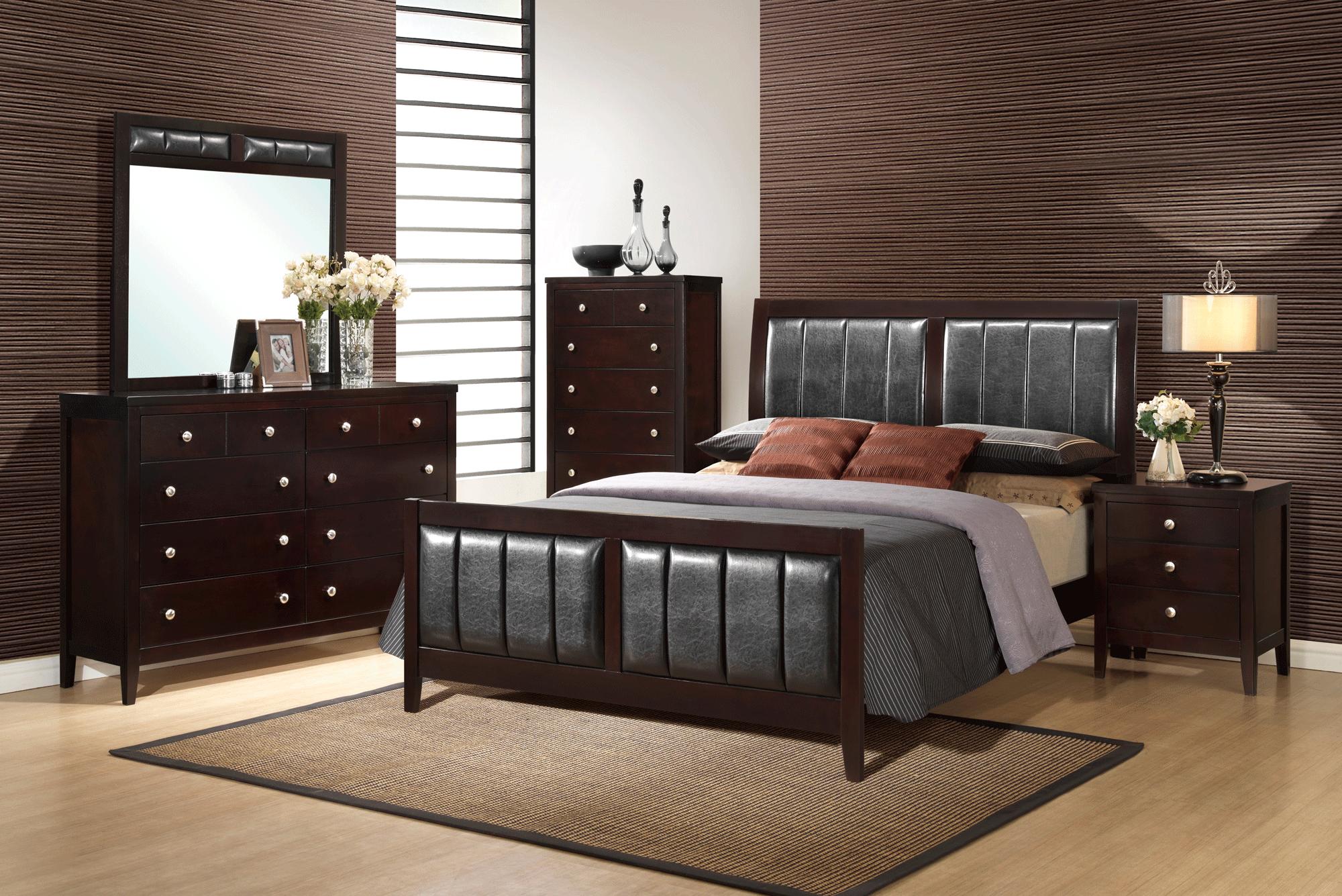 Rosa Antique Black Bedroom Set by Global Furniture