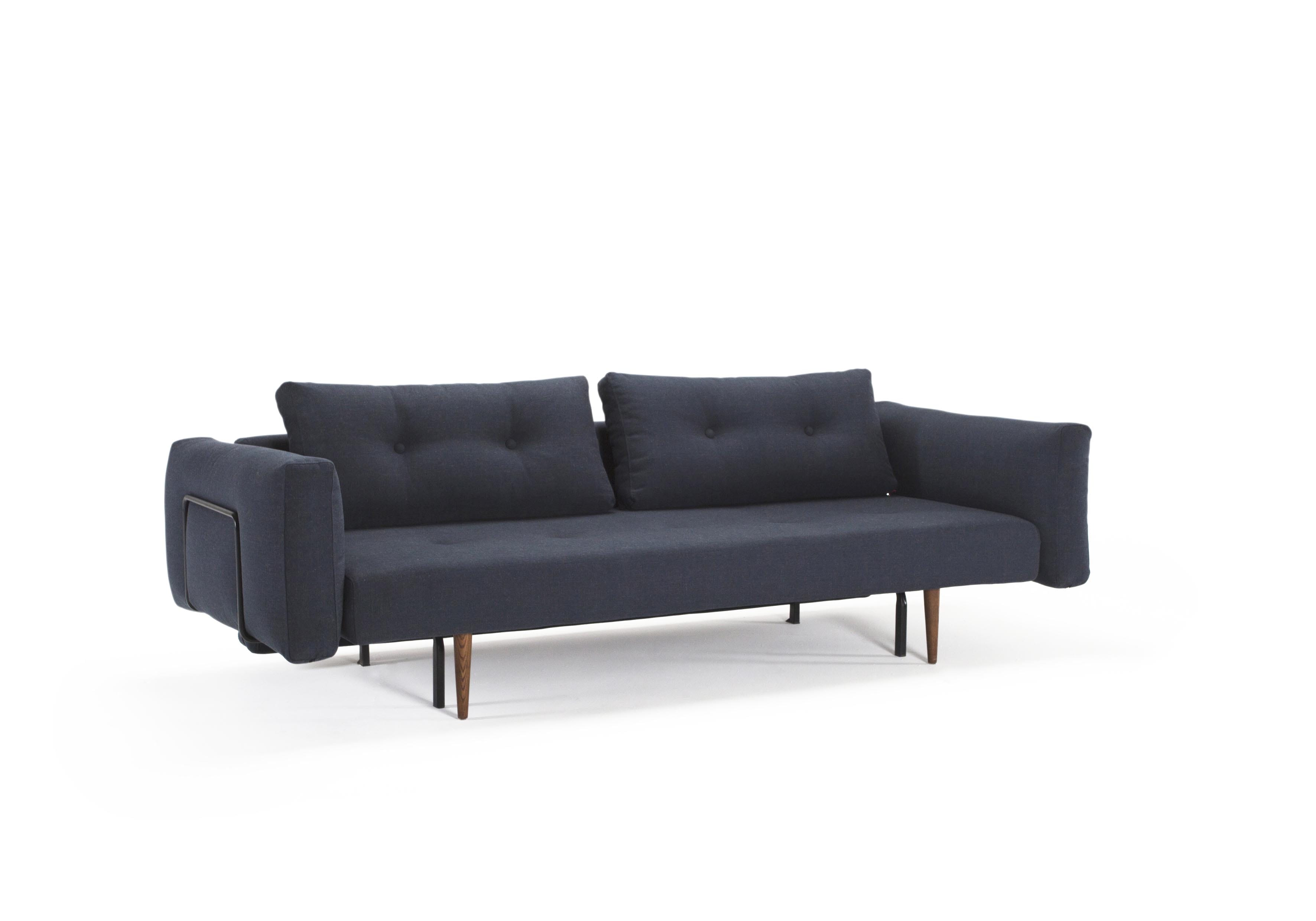 Recast Sofa Bed w Arms Full Size Nist Blue by Innovation