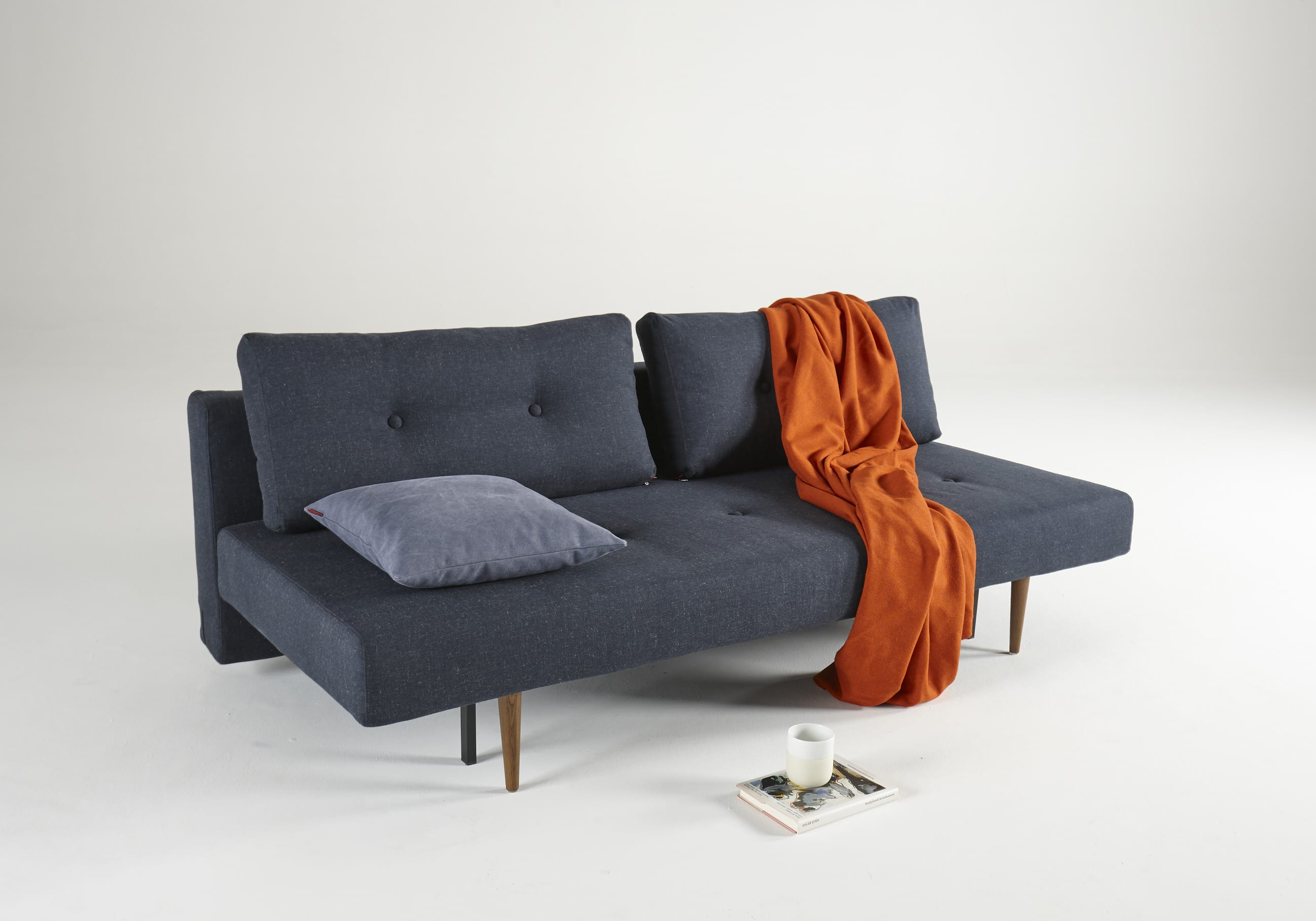 Recast Plus Sofa Bed (Full Size) Nist Blue by Innovation