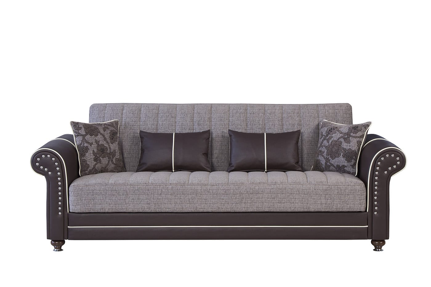 Royal Home Quantro Brown Convertible Sofa by Casamode