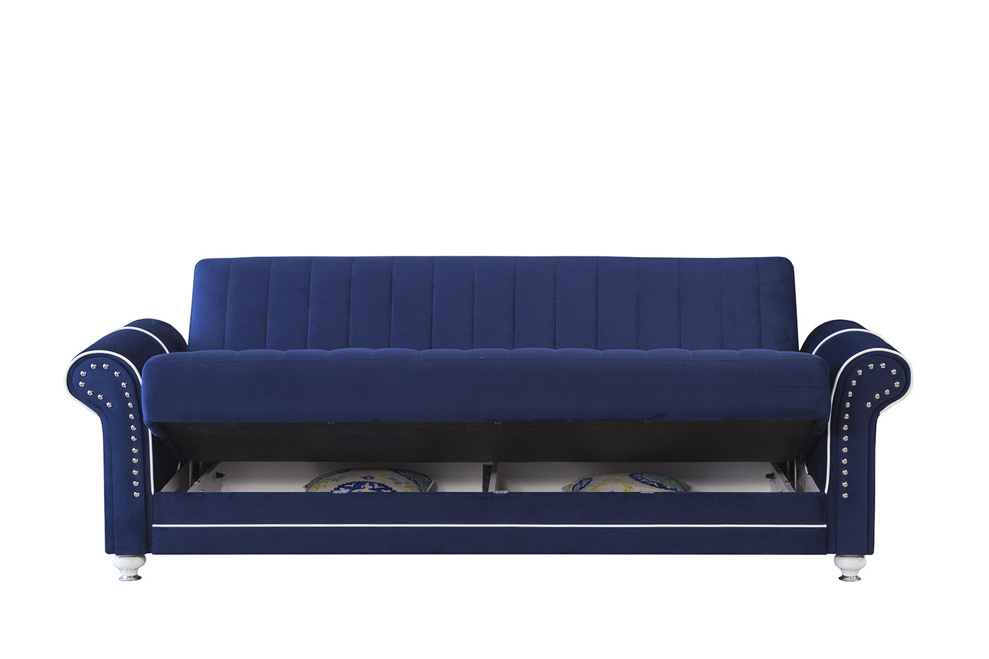 Merveilleux Royal Home Riva Dark Blue Convertible Sofa