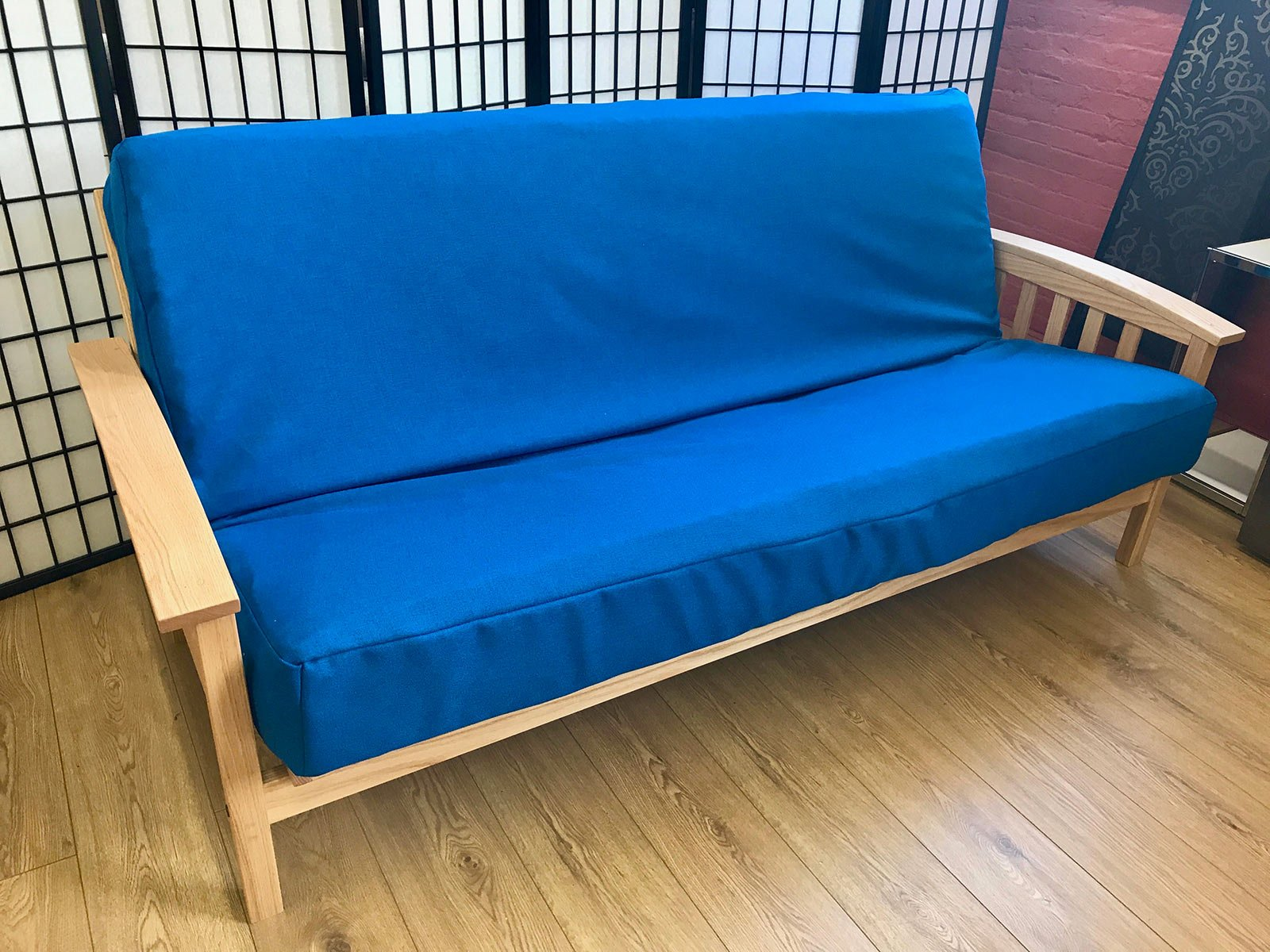 pin futon cover pologear gateway denim futons blue microfiber full