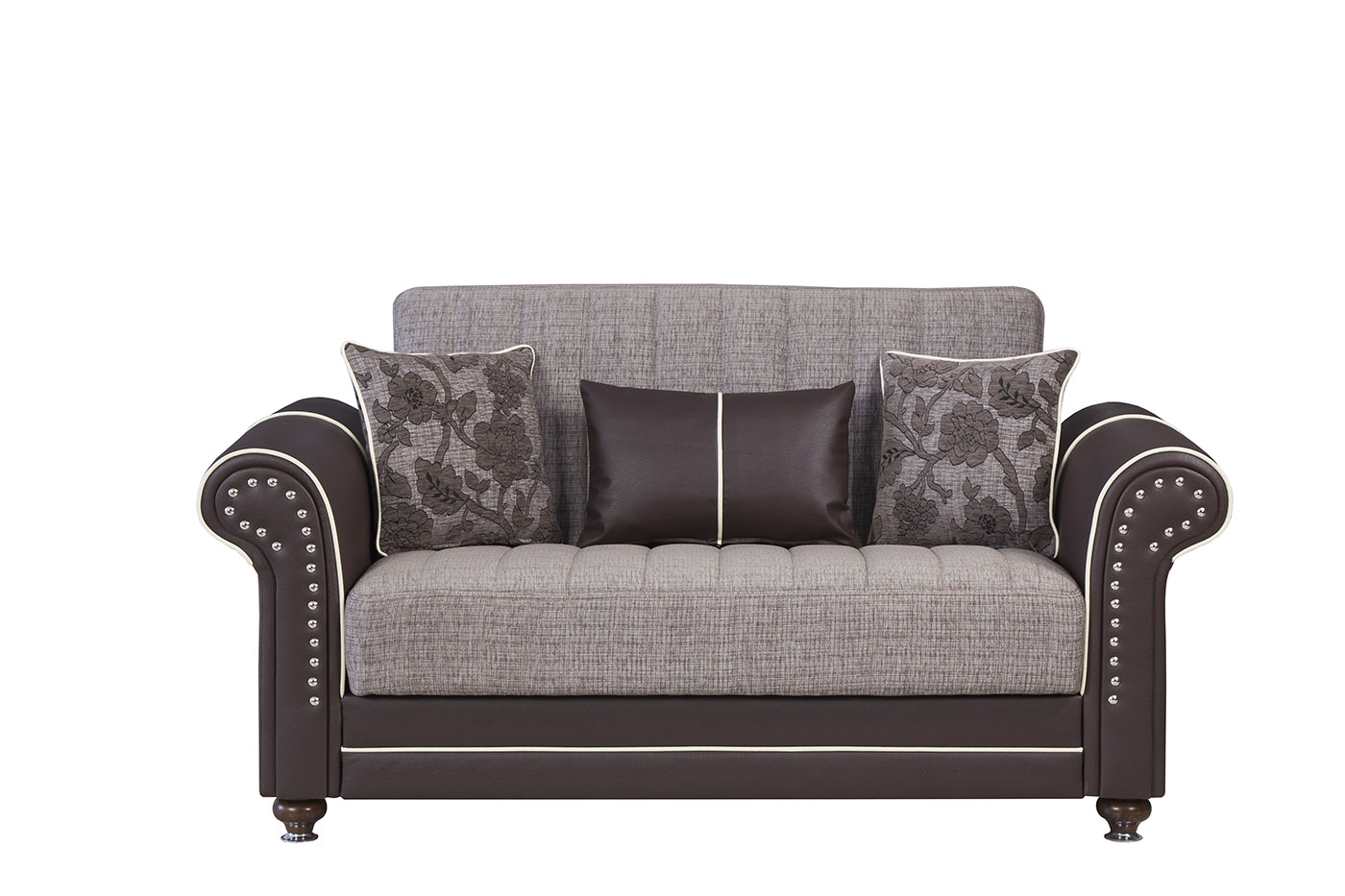 Royal Home Quantro Brown Convertible Loveseat by Casamode