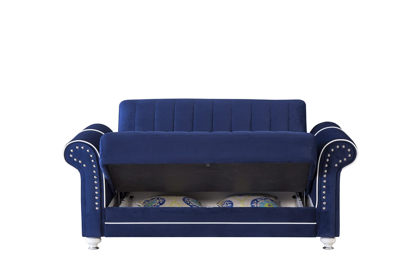 Royal Home Riva Dark Blue Convertible Loveseat By Casamode