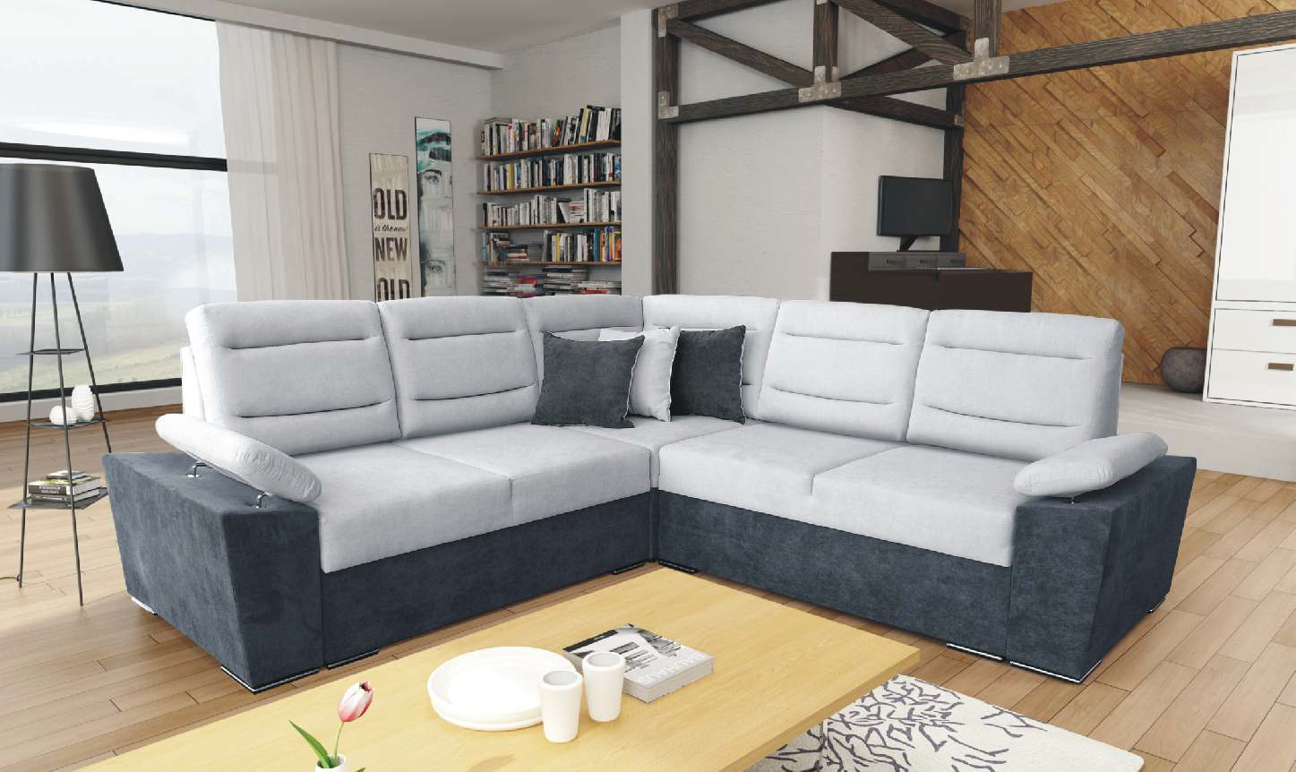 Groovy Savio Two Tone Sectional Sofa By Skyler Designs Creativecarmelina Interior Chair Design Creativecarmelinacom
