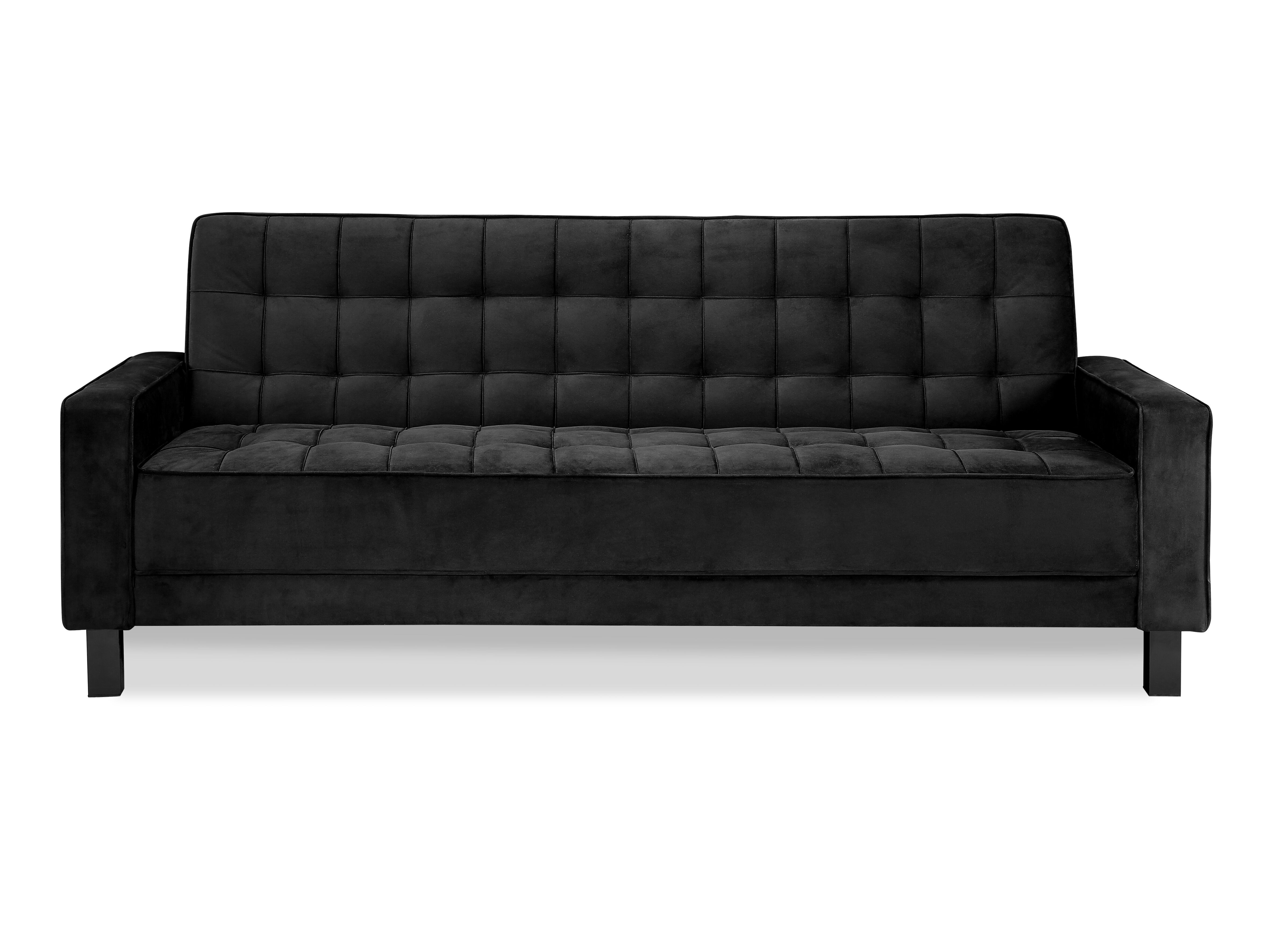 McKinley Convertible Sofa Black by Serta Lifestyle