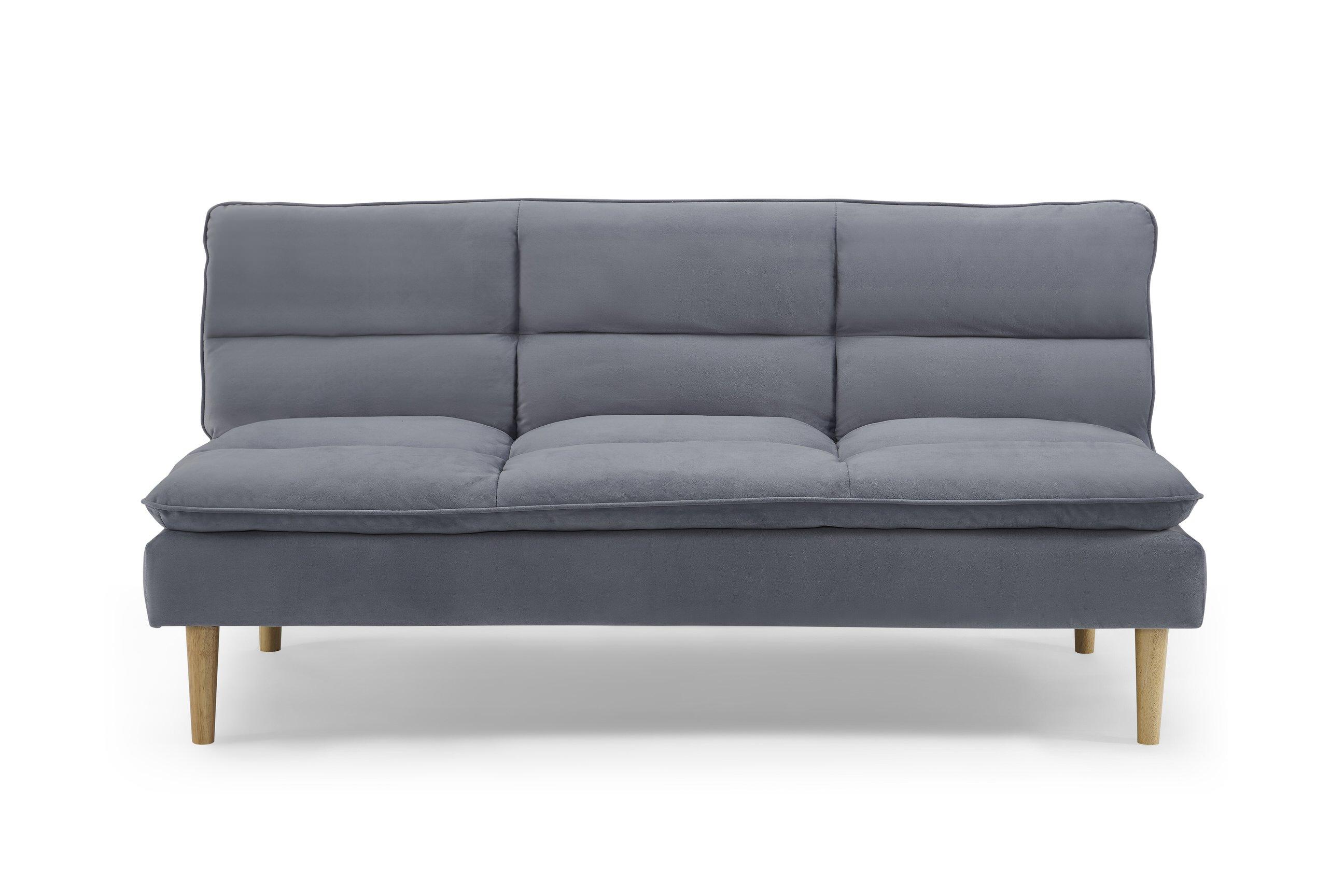 Monterey Heavenly Dark Sky Blue Splitback Sofa Convertible By Sealy