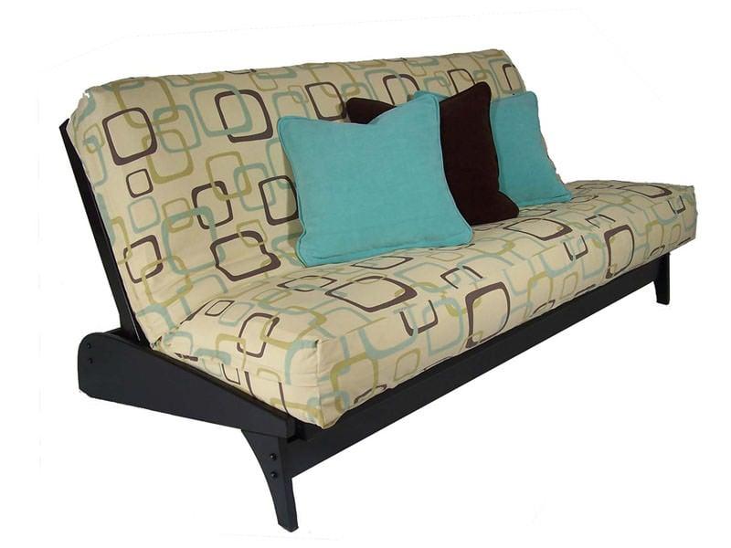 dillon black queen loveseat futon frame by strata furniture  rh   futonland