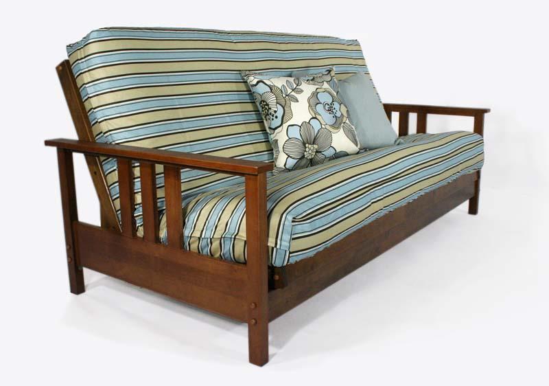 Durango Warm Cherry Full Wall Hugger Futon Frame Kd By Strata Furniture