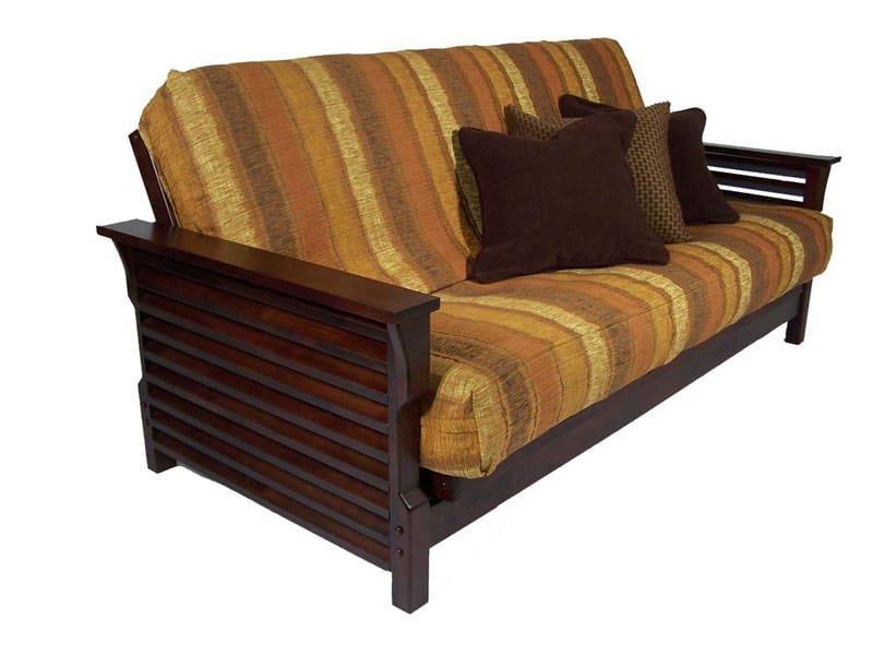 Plantation Dark Cherry Full Wall Hugger Futon Frame by