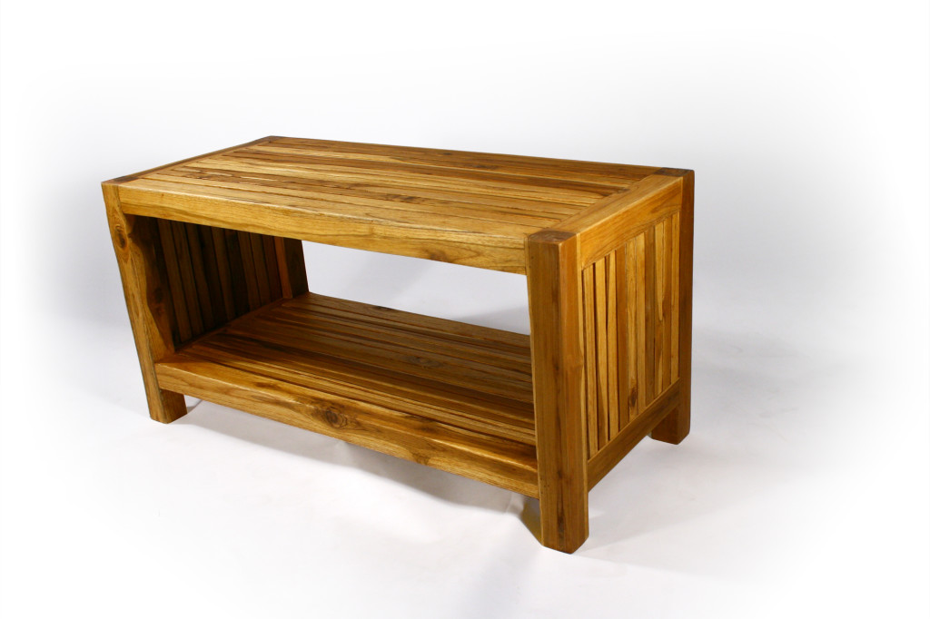 Teak Slat Livos Oak Coffee Table By Satara